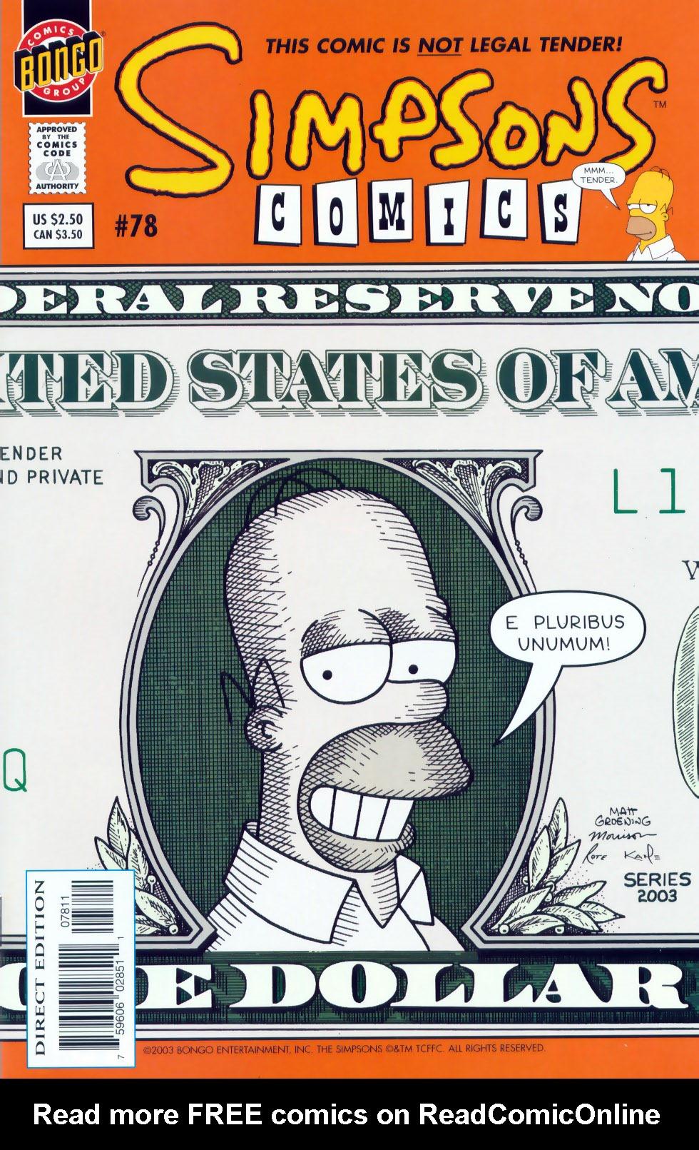 Read online Simpsons Comics comic -  Issue #78 - 1
