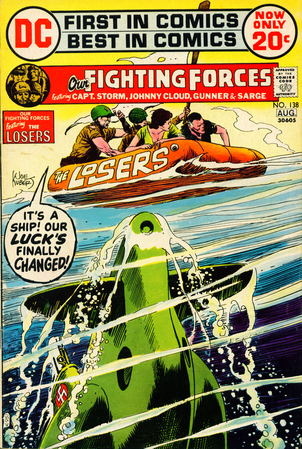 Our Fighting Forces (1954) issue 138 - Page 1