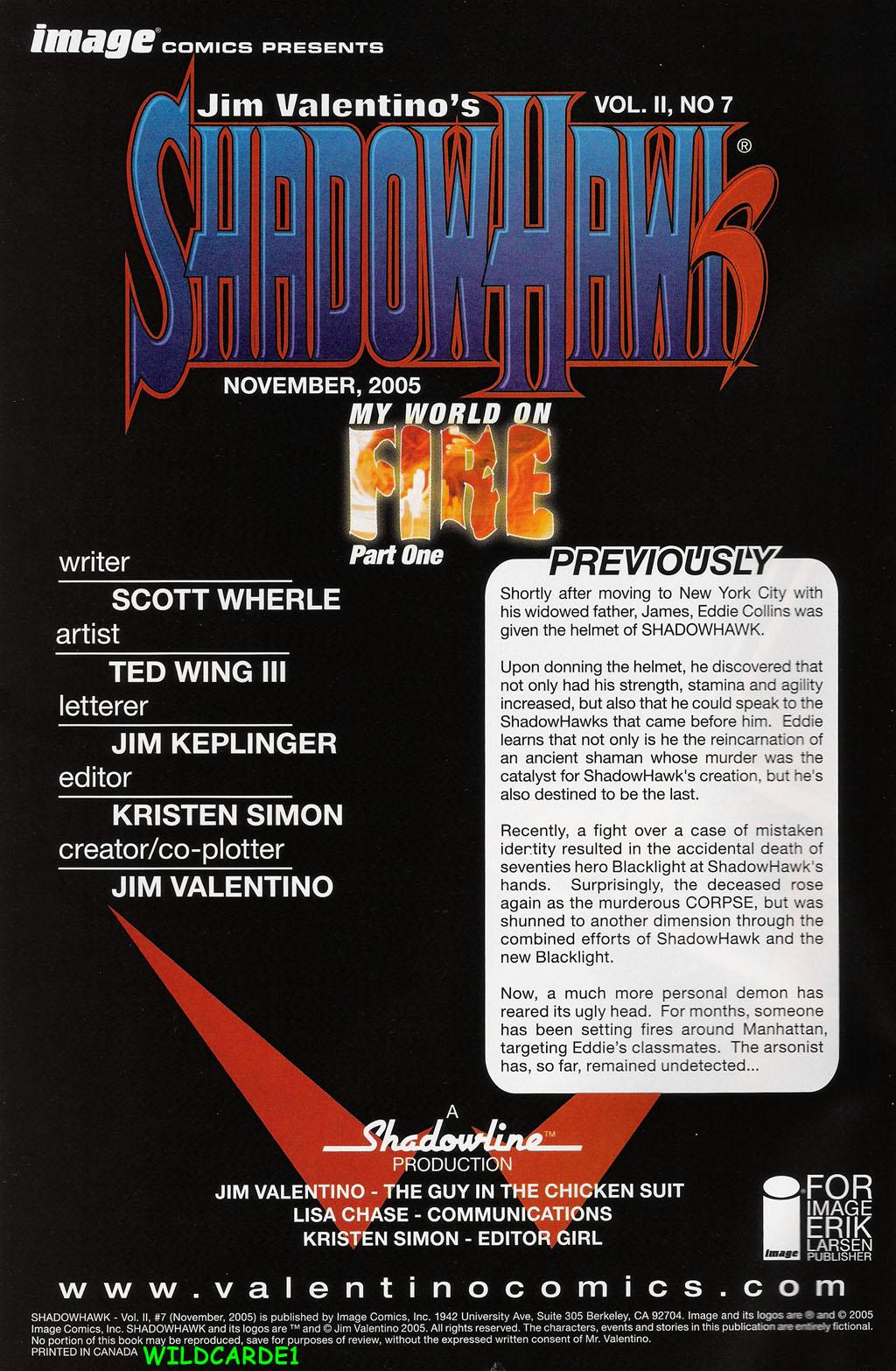 Read online ShadowHawk (2005) comic -  Issue #7 - 2