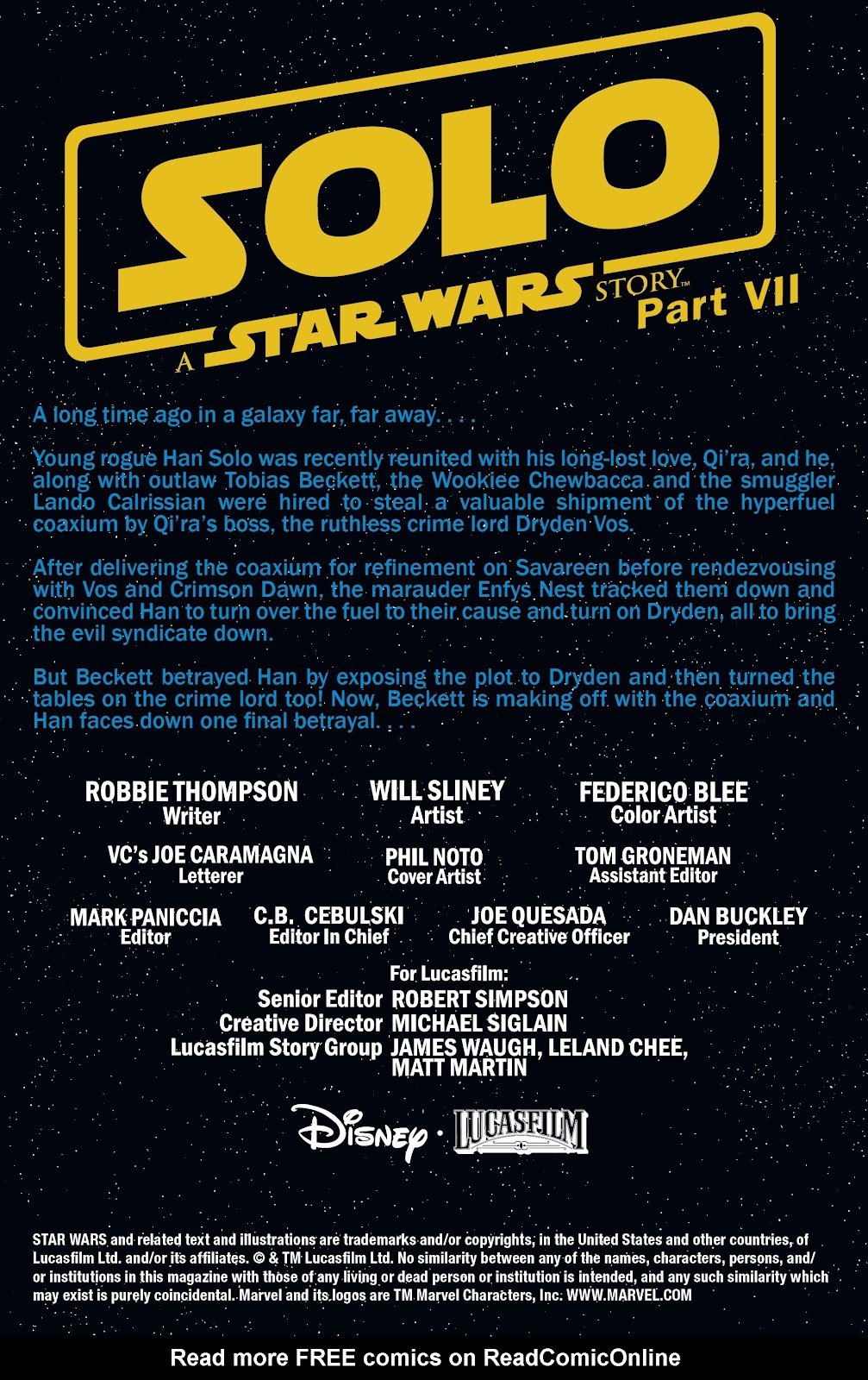 Read online Solo: A Star Wars Story Adaptation comic -  Issue #7 - 2