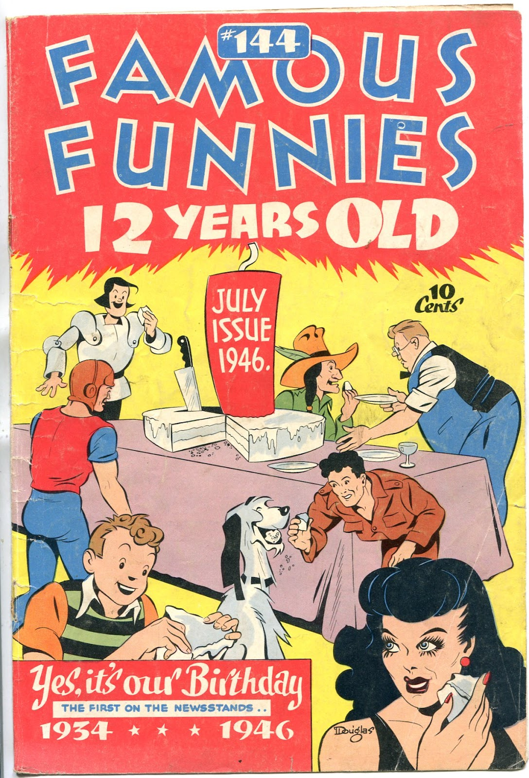Read online Famous Funnies comic -  Issue #144 - 1
