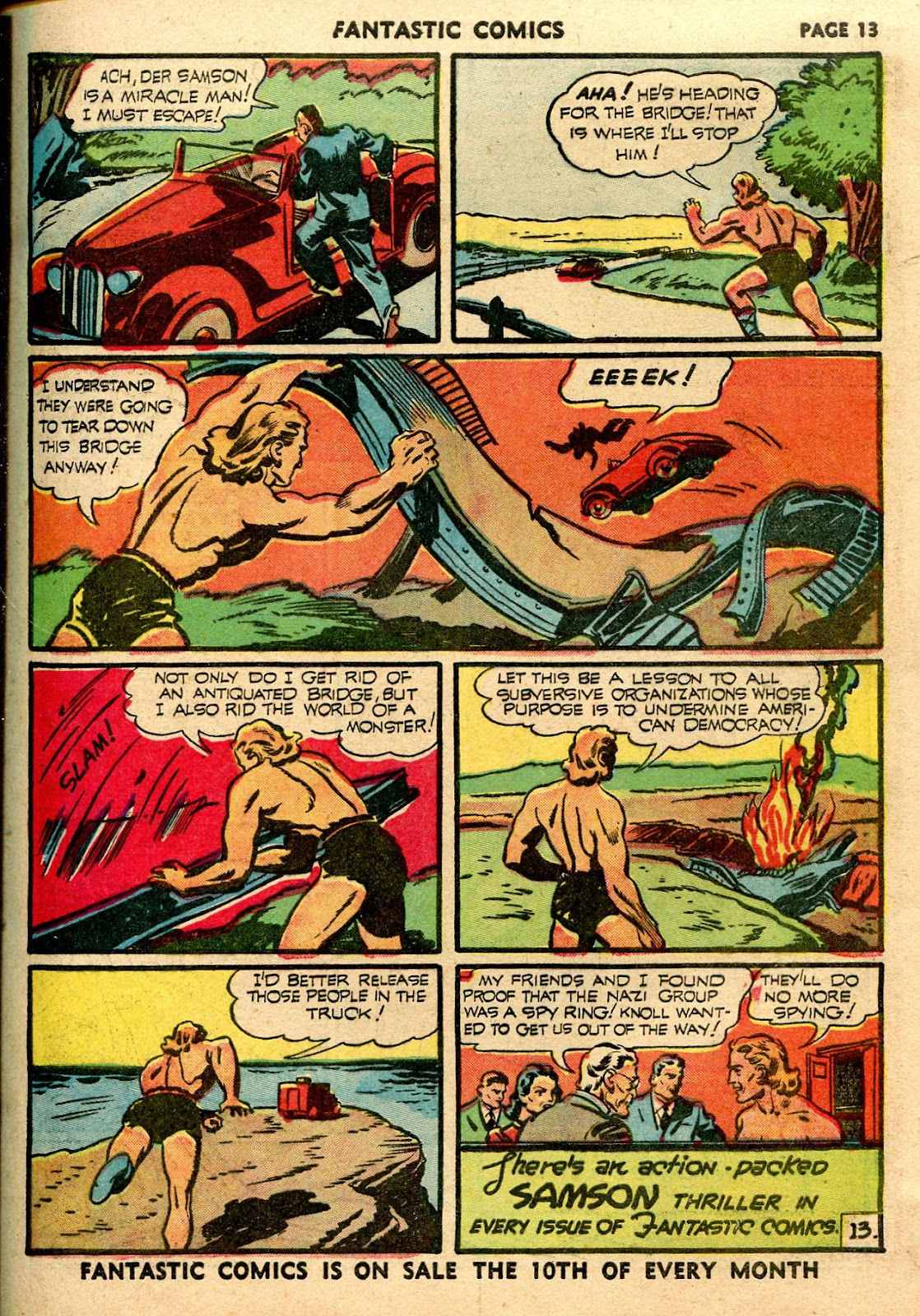 Read online Fantastic Comics comic -  Issue #21 - 15