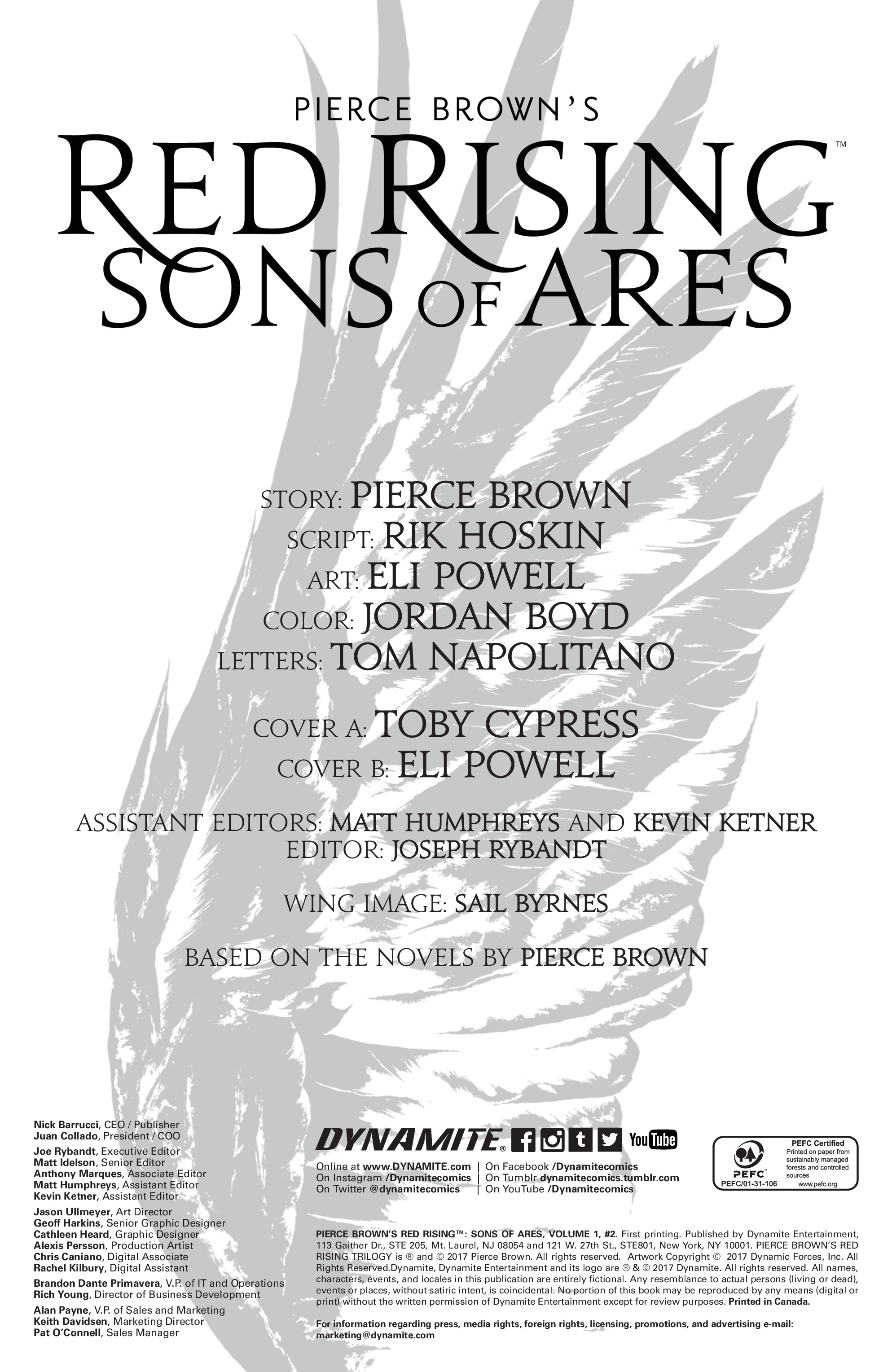 Read online Pierce Brown's Red Rising: Son Of Ares comic -  Issue #2 - 3