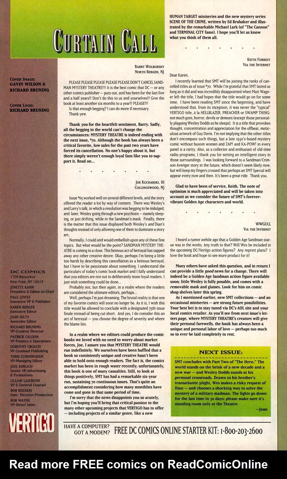 Sandman Mystery Theatre 69 Page 22