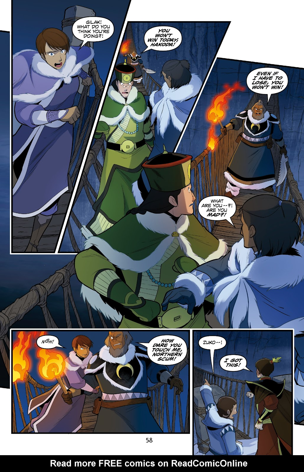 Nickelodeon Avatar: The Last Airbender - North and South issue 3 - Page 58