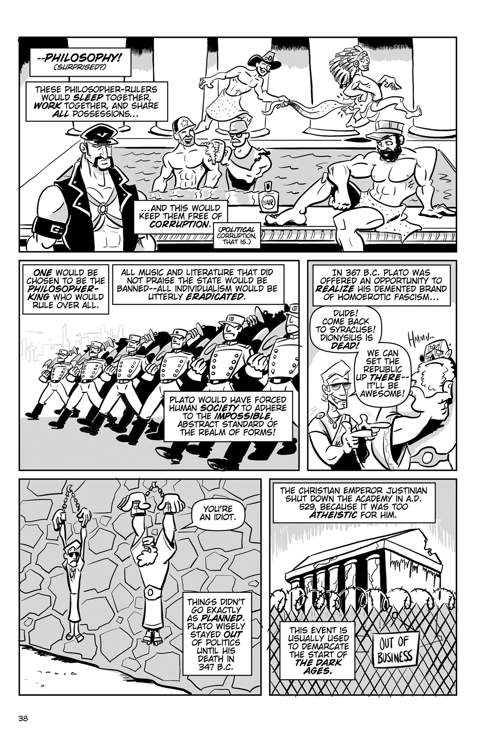Read online Action Philosophers! comic -  Issue #Action Philosophers! TPB (Part 1) - 38