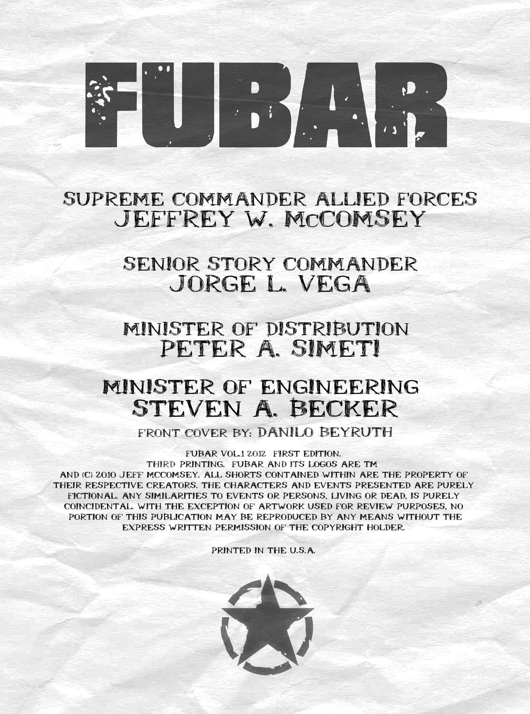 Read online FUBAR comic -  Issue #1 - 3