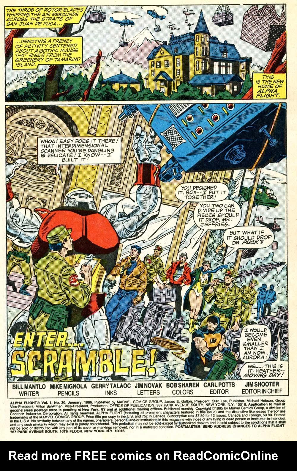 Read online Alpha Flight (1983) comic -  Issue #30 - 2