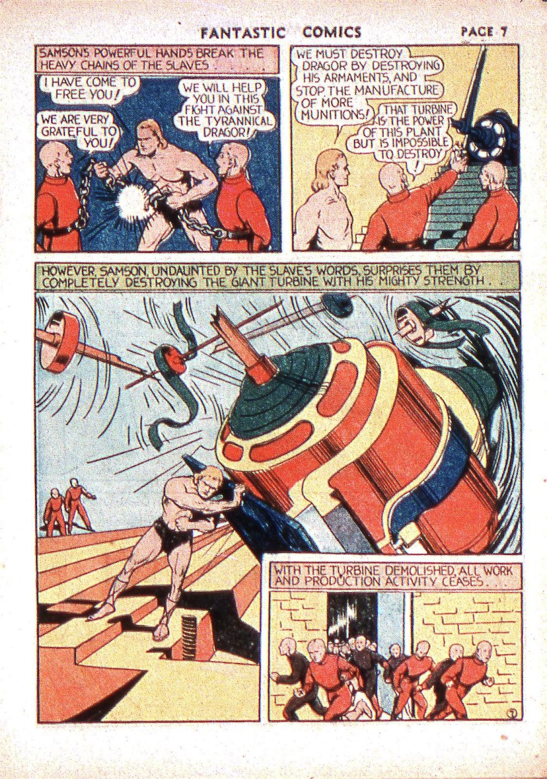 Read online Fantastic Comics comic -  Issue #2 - 9