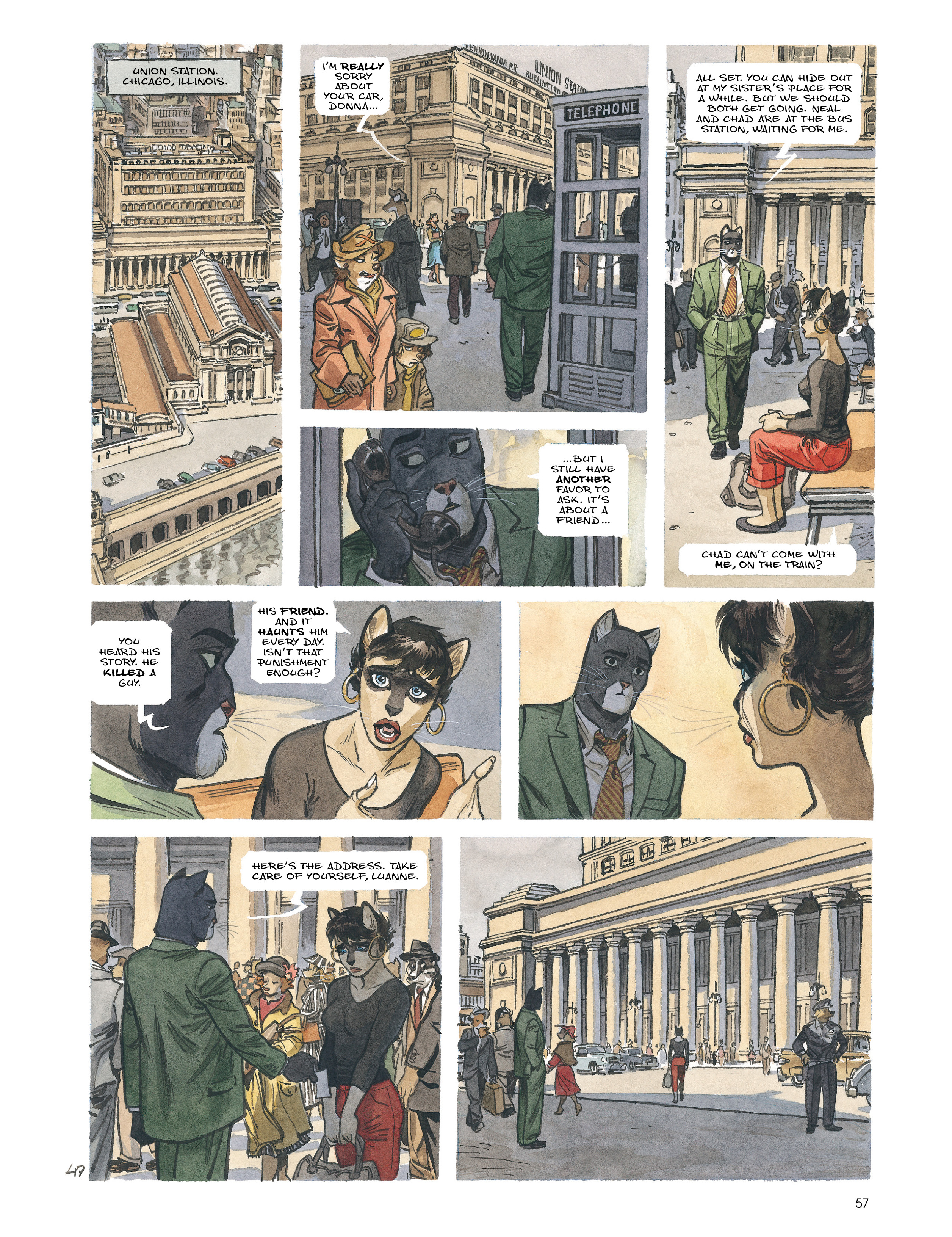 Read online Blacksad: Amarillo comic -  Issue # Full - 56