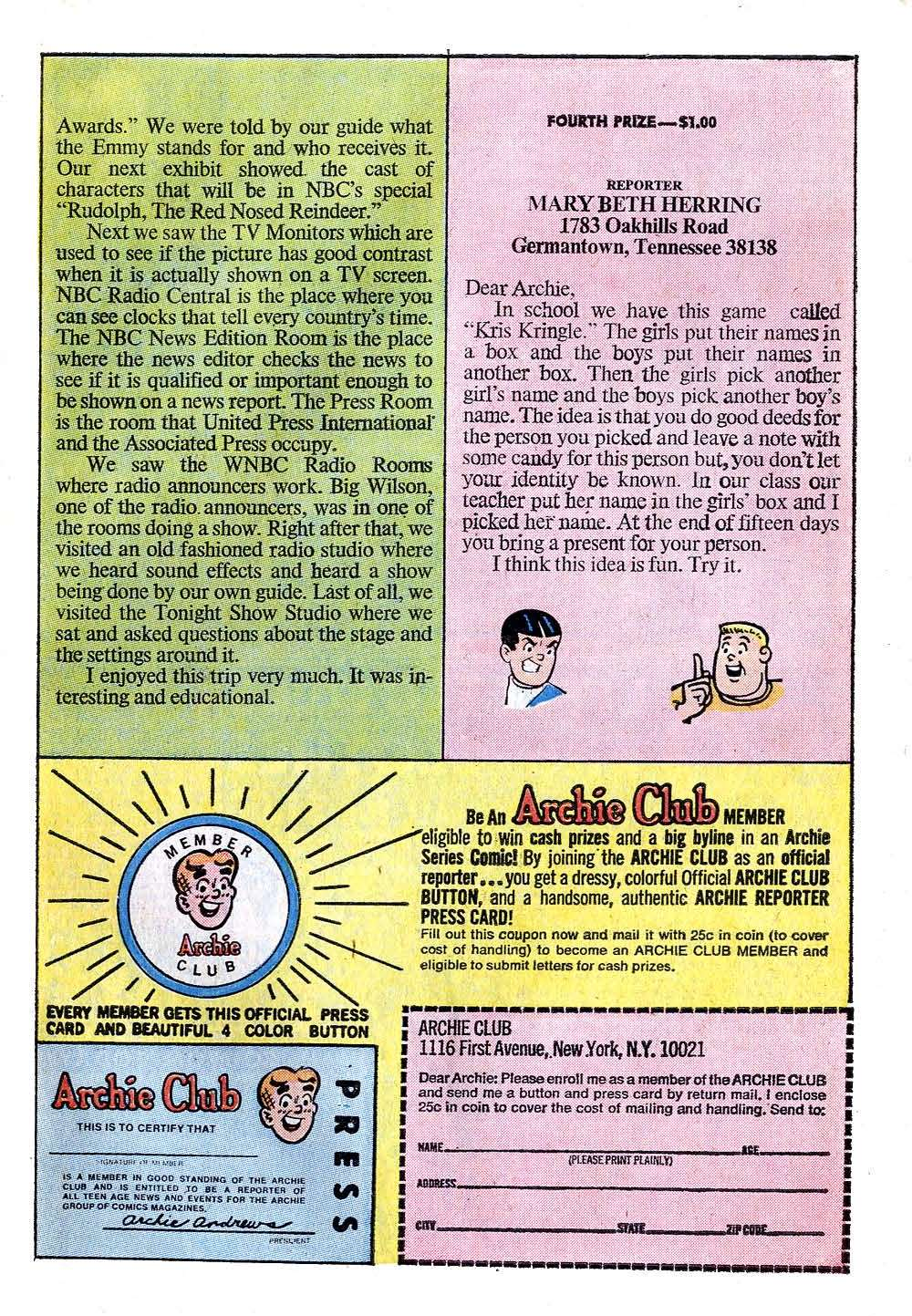 Read online Archie (1960) comic -  Issue #218 - 27