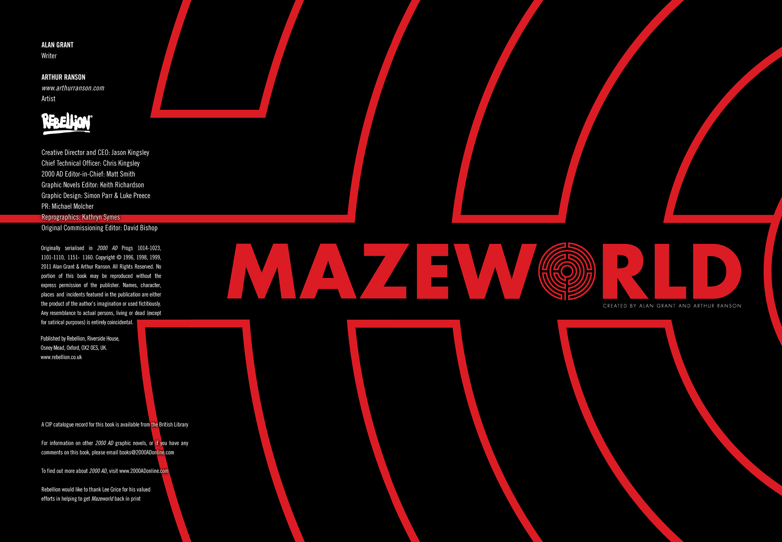 Read online Mazeworld comic -  Issue # TPB - 2