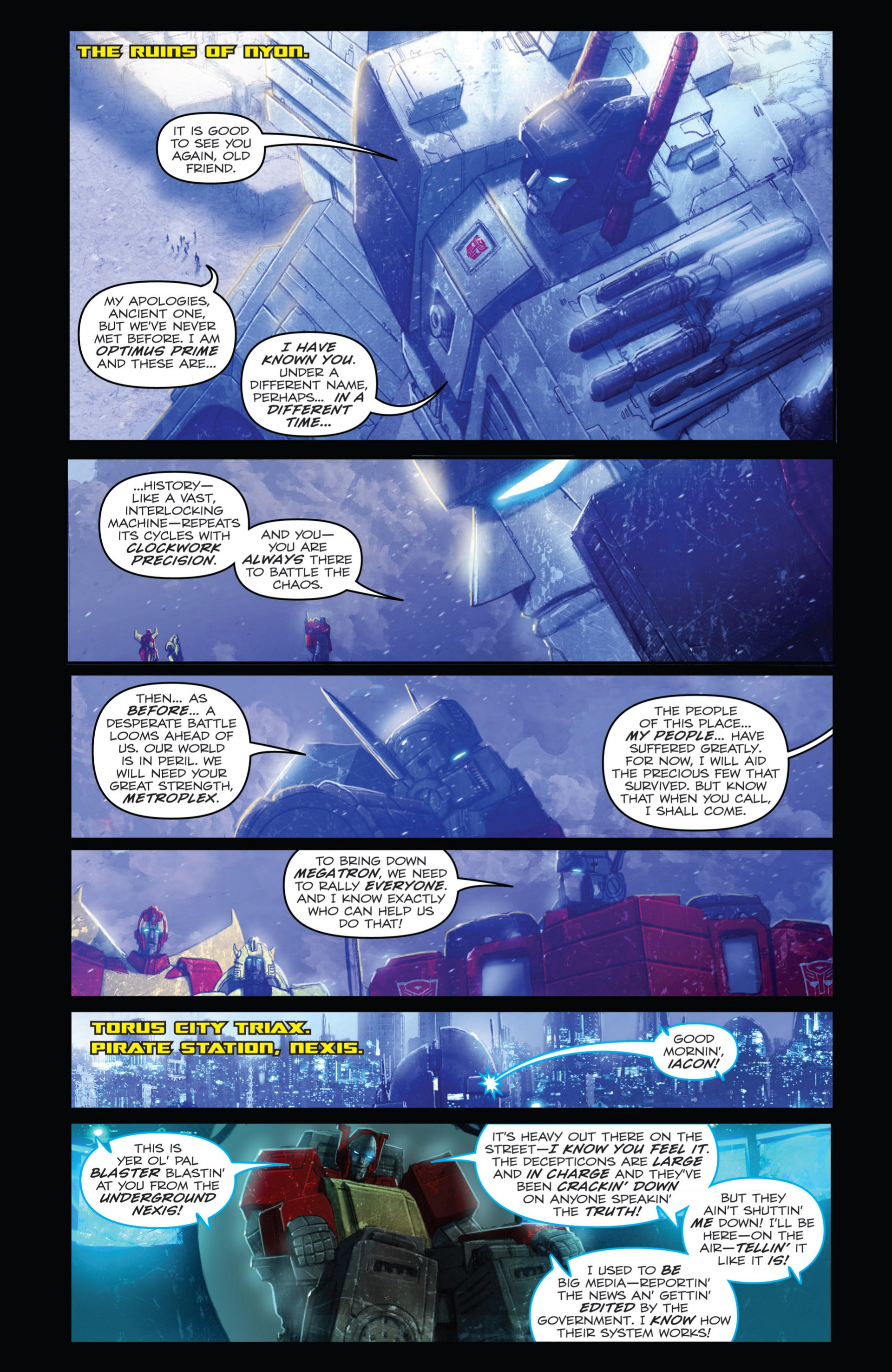 Read online Transformers: Autocracy comic -  Issue # Full - 98