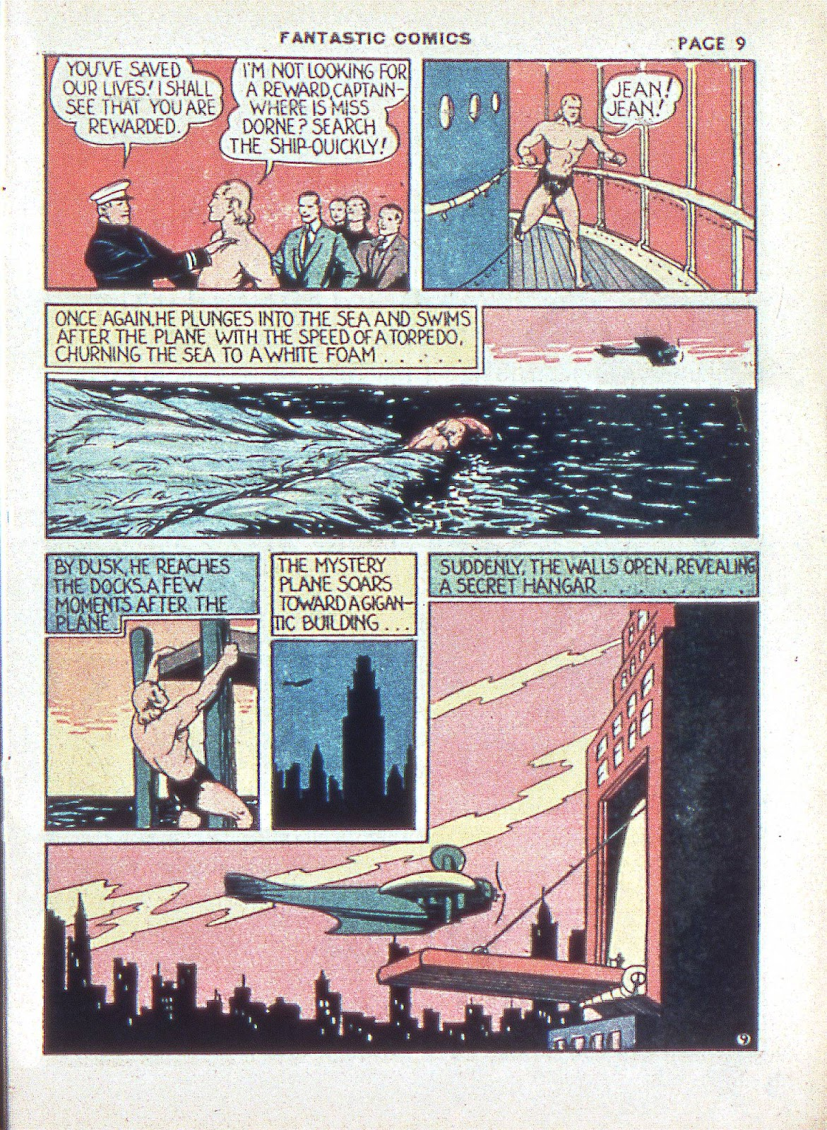 Read online Fantastic Comics comic -  Issue #3 - 12