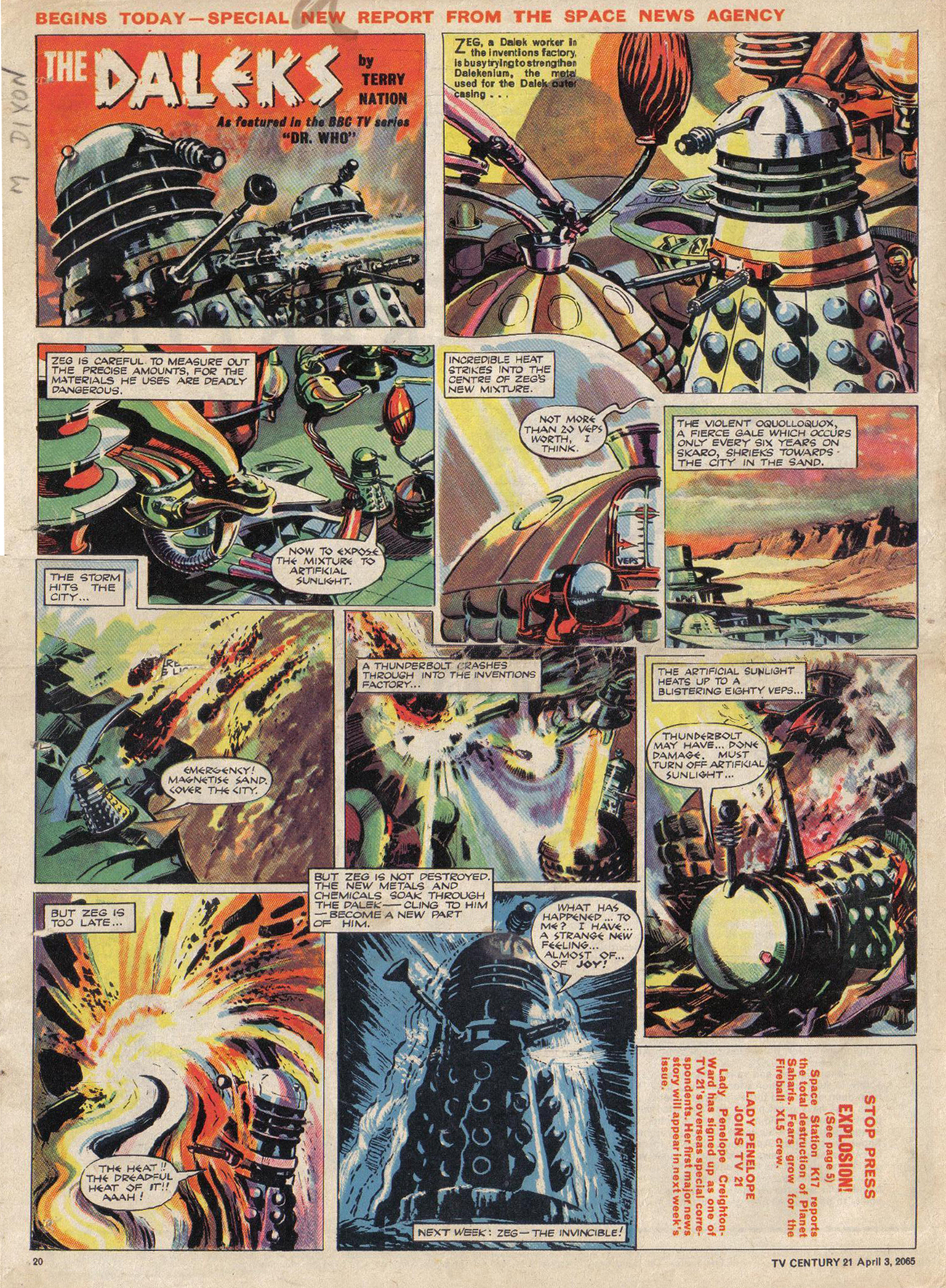 Read online TV Century 21 (TV 21) comic -  Issue #11 - 19