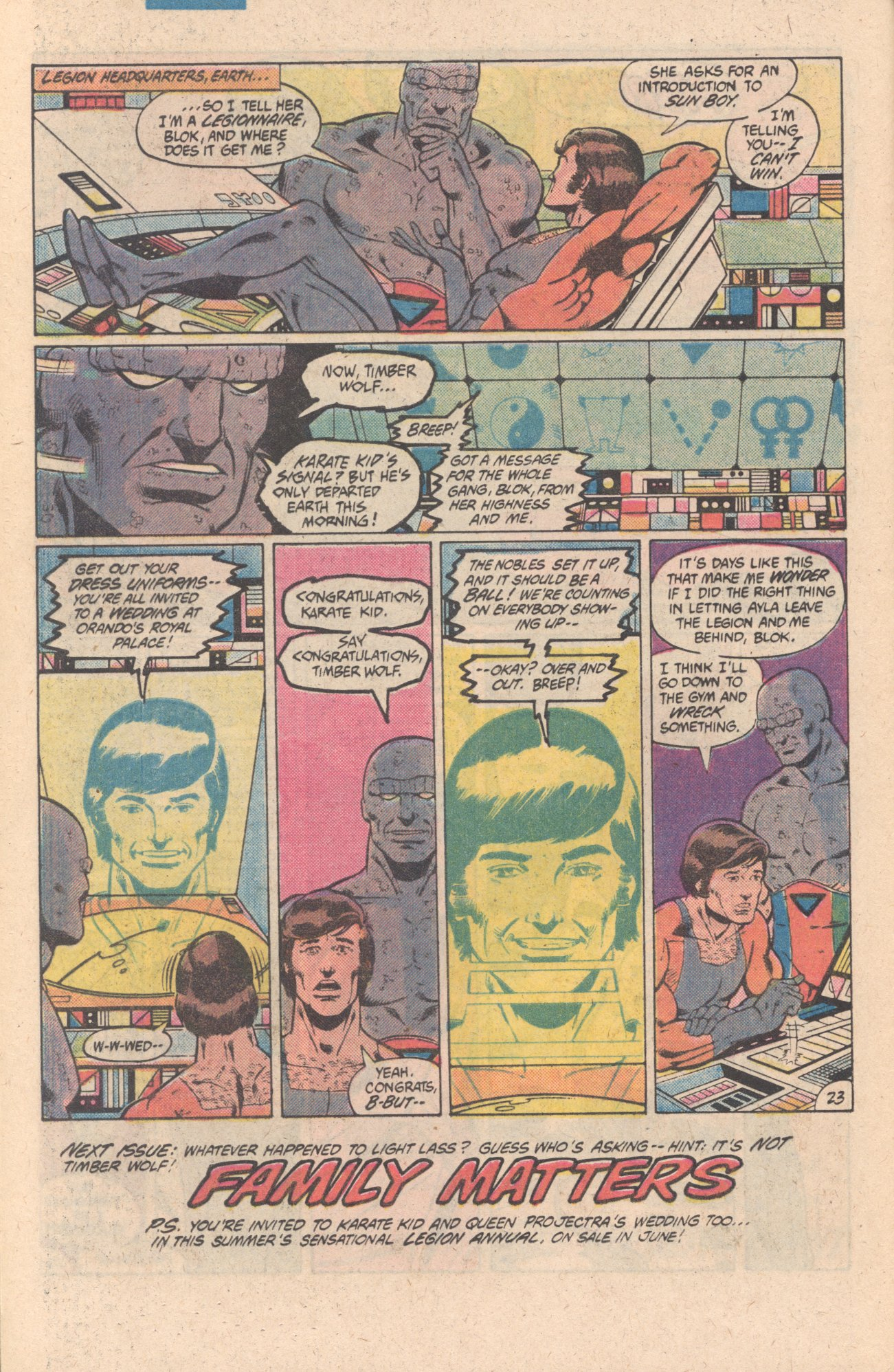 Legion of Super-Heroes (1980) 301 Page 23