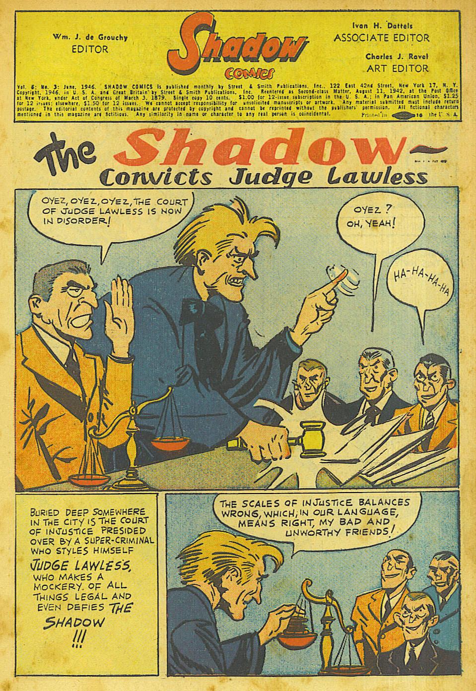 Read online Shadow Comics comic -  Issue #63 - 1