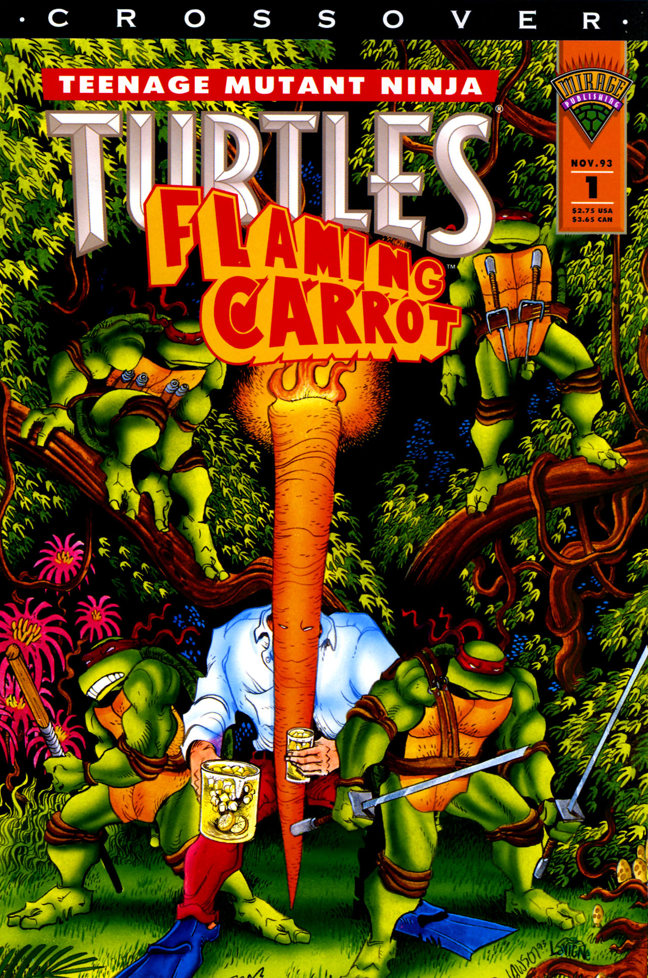 Teenage Mutant Ninja Turtles/Flaming Carrot Crossover 1 Page 1