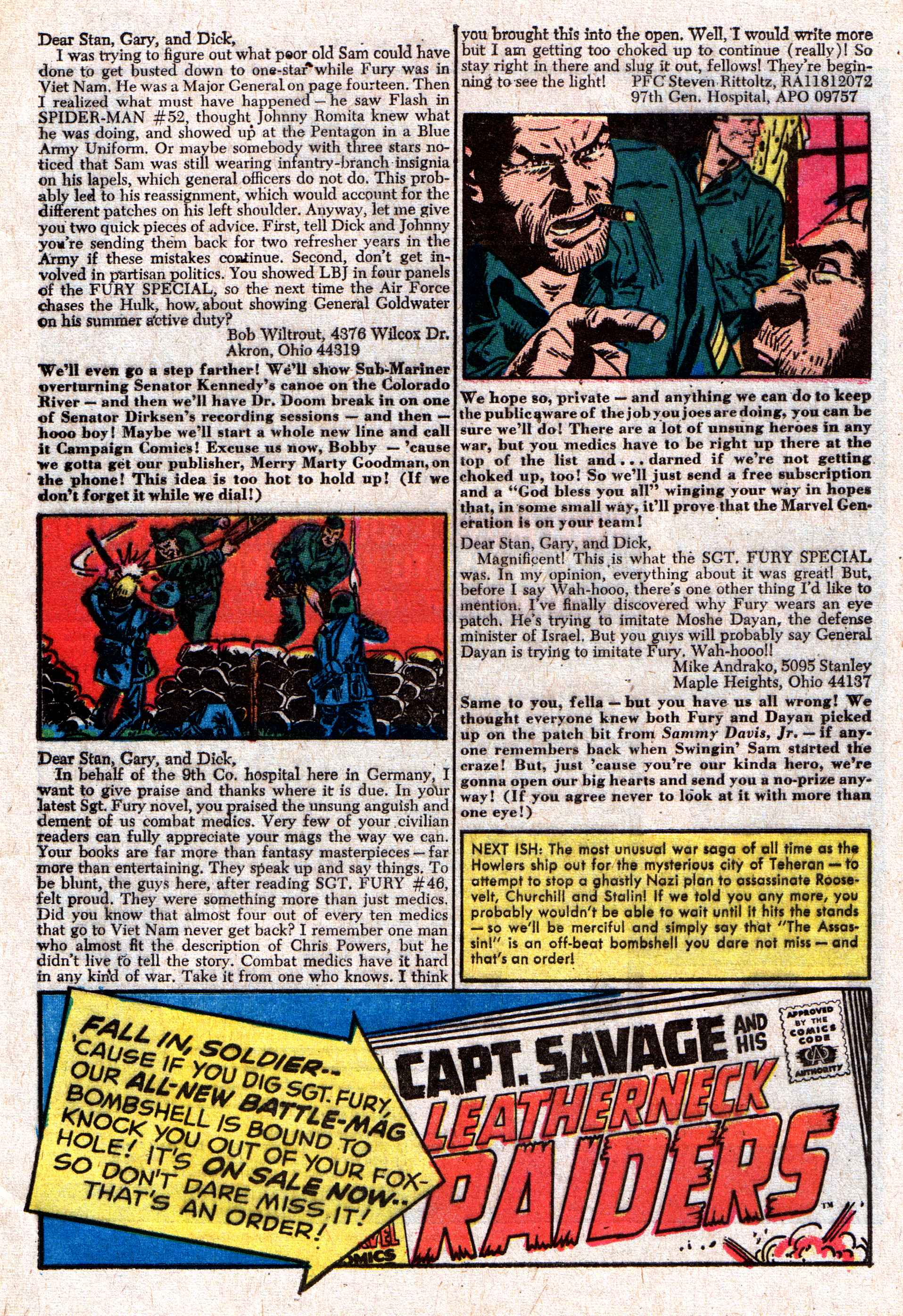 Read online Sgt. Fury comic -  Issue #50 - 33
