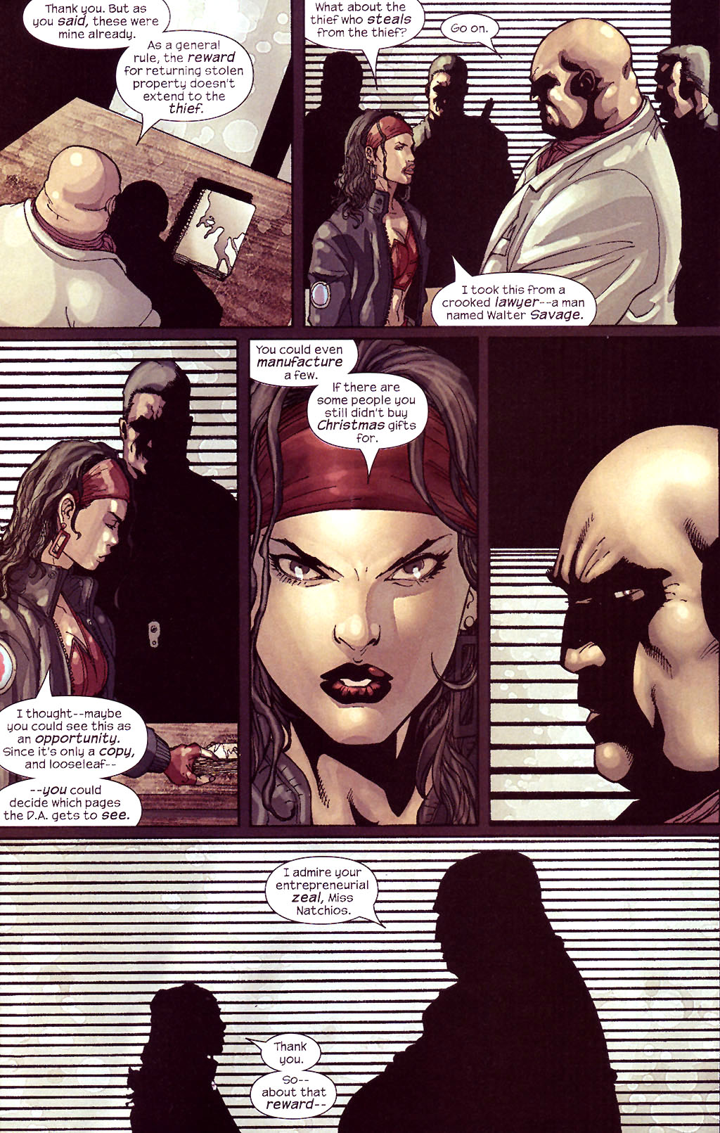 Read online Ultimate Elektra comic -  Issue #5 - 17