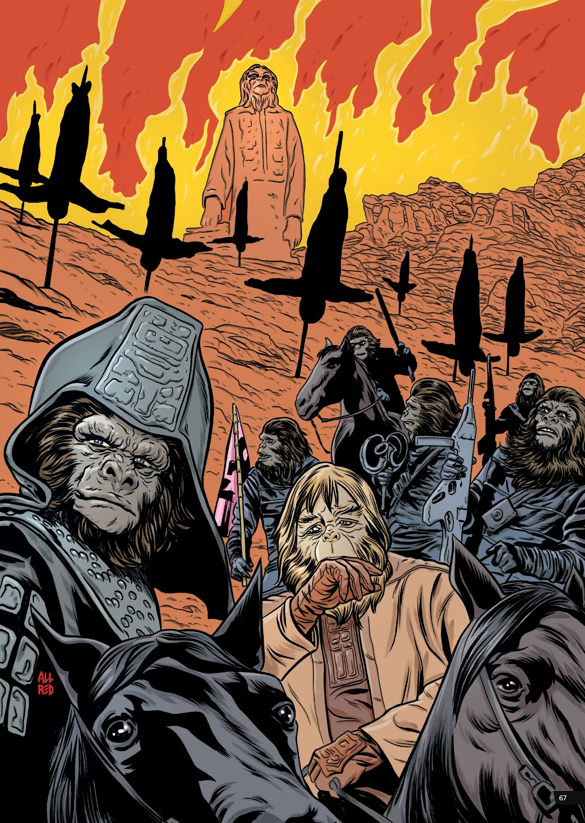 Read online Planet of the Apes Artist Tribute comic -  Issue # TPB - 67