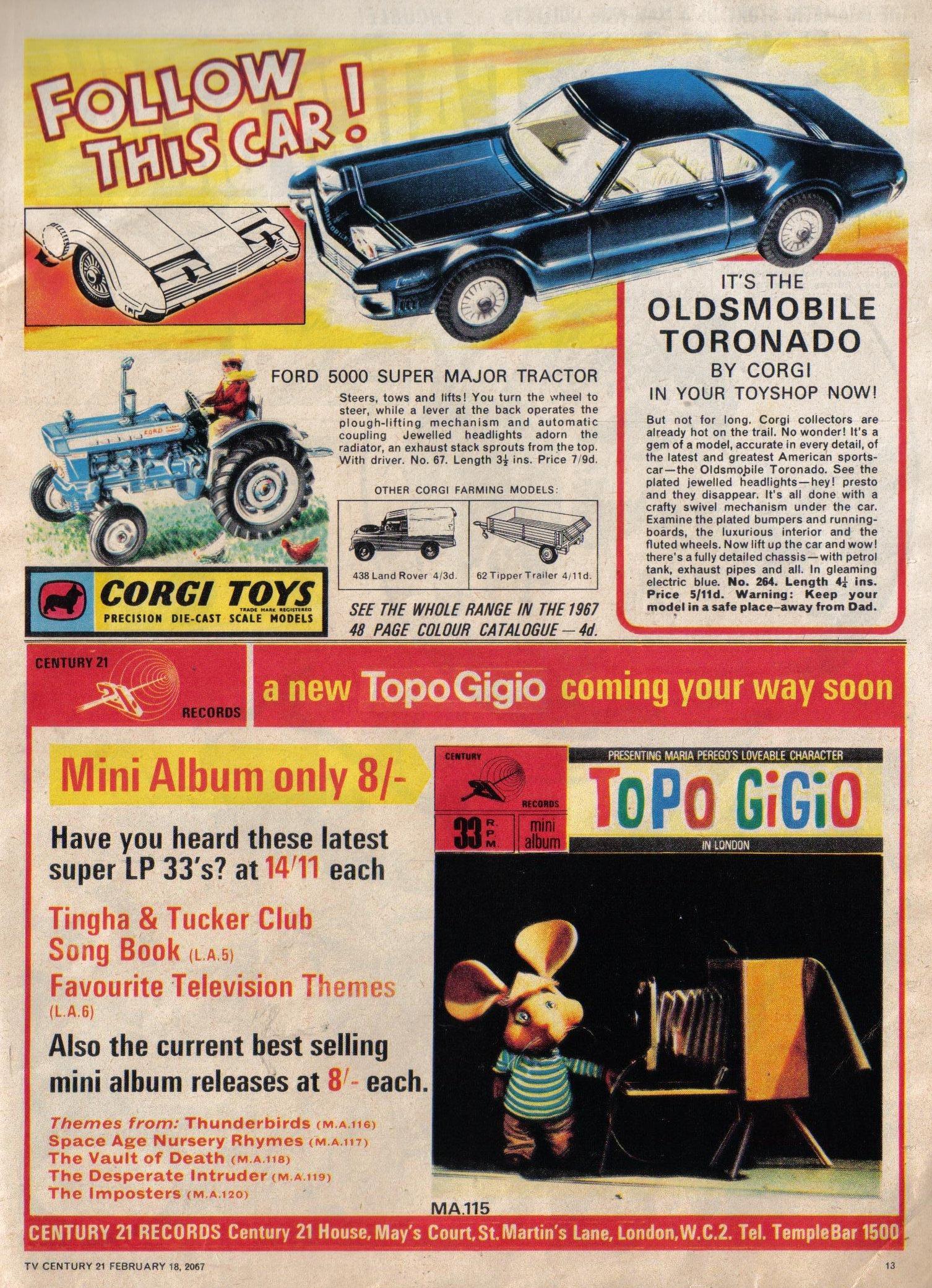 Read online TV Century 21 (TV 21) comic -  Issue #109 - 12