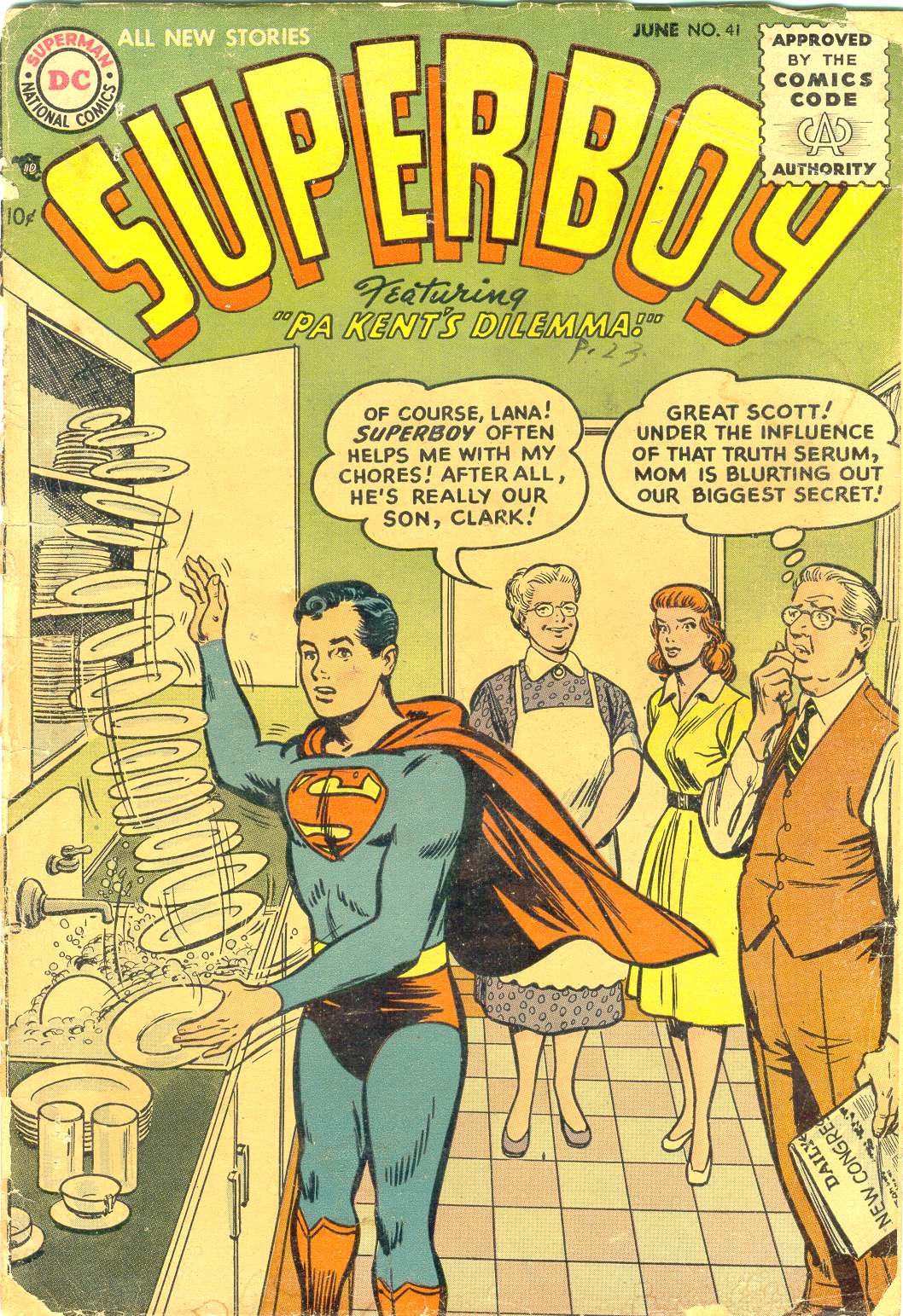Superboy (1949) issue 41 - Page 1