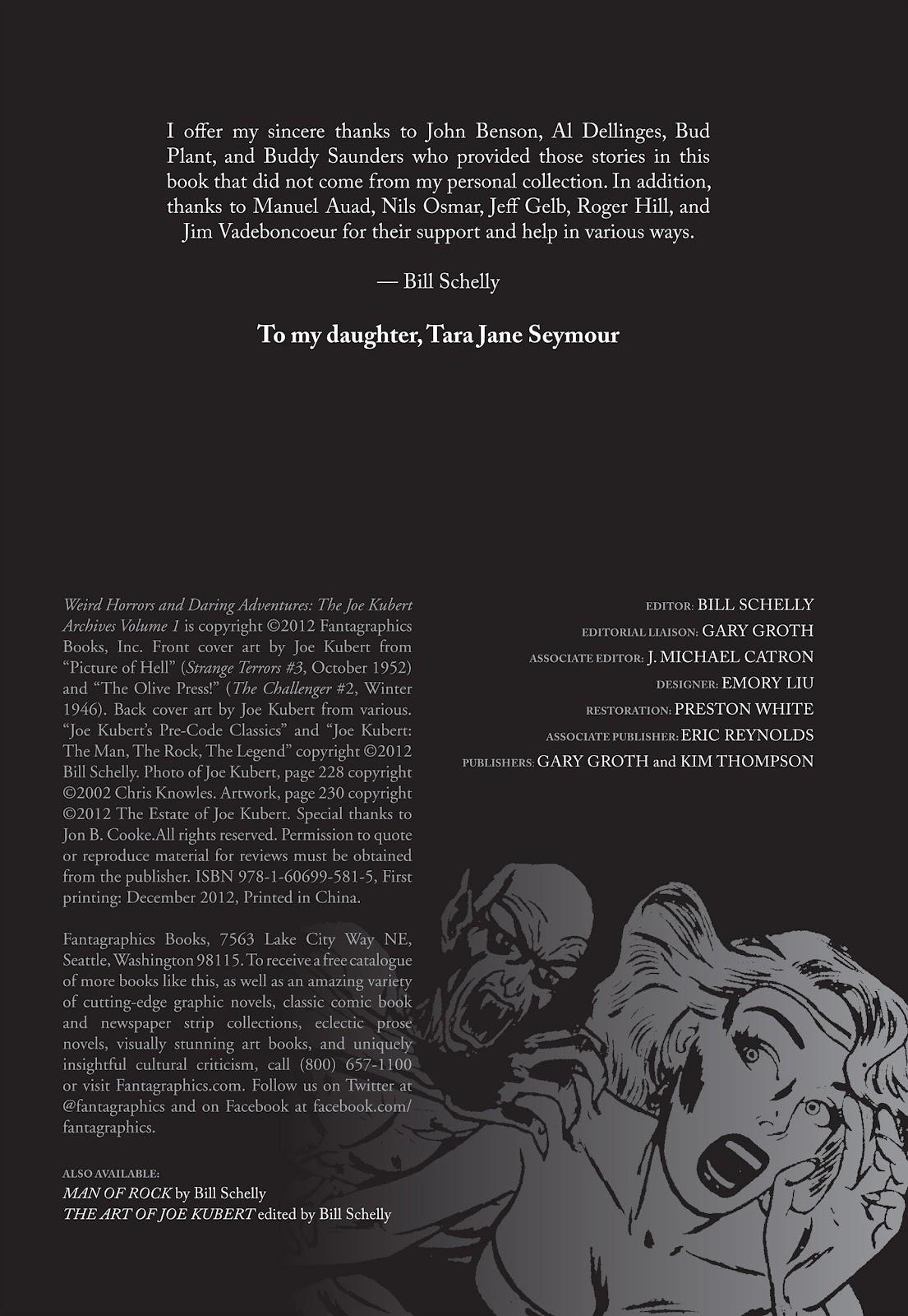 Read online The Joe Kubert Archives comic -  Issue # TPB (Part 1) - 5