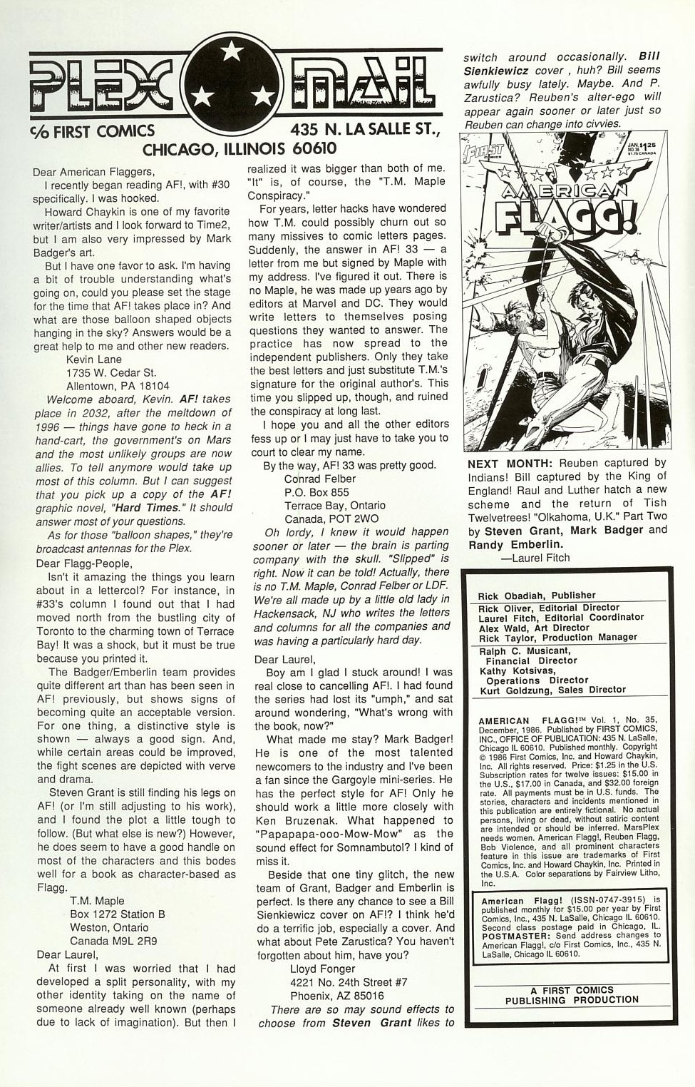 Read online American Flagg! comic -  Issue #35 - 2