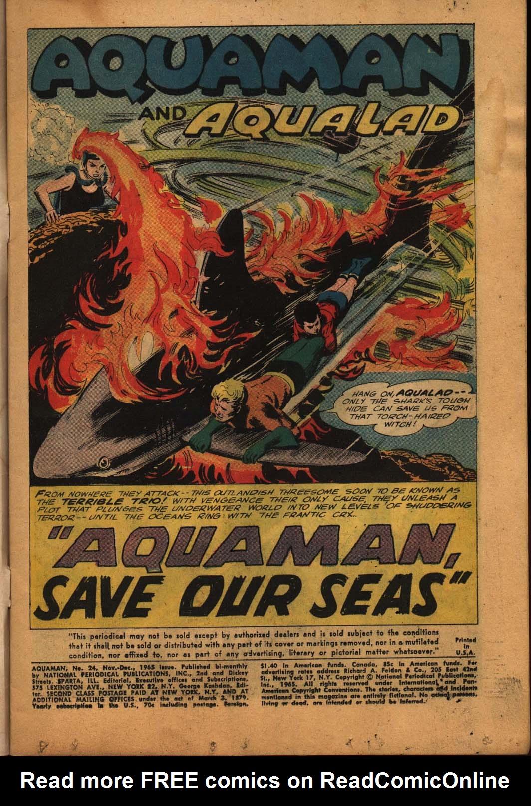 Read online Aquaman (1962) comic -  Issue #24 - 3