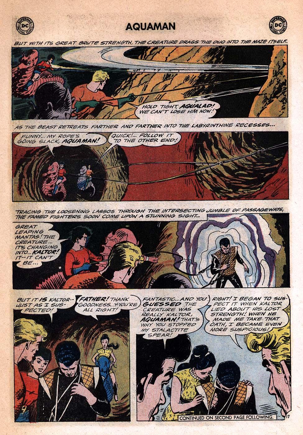 Read online Aquaman (1962) comic -  Issue #20 - 22