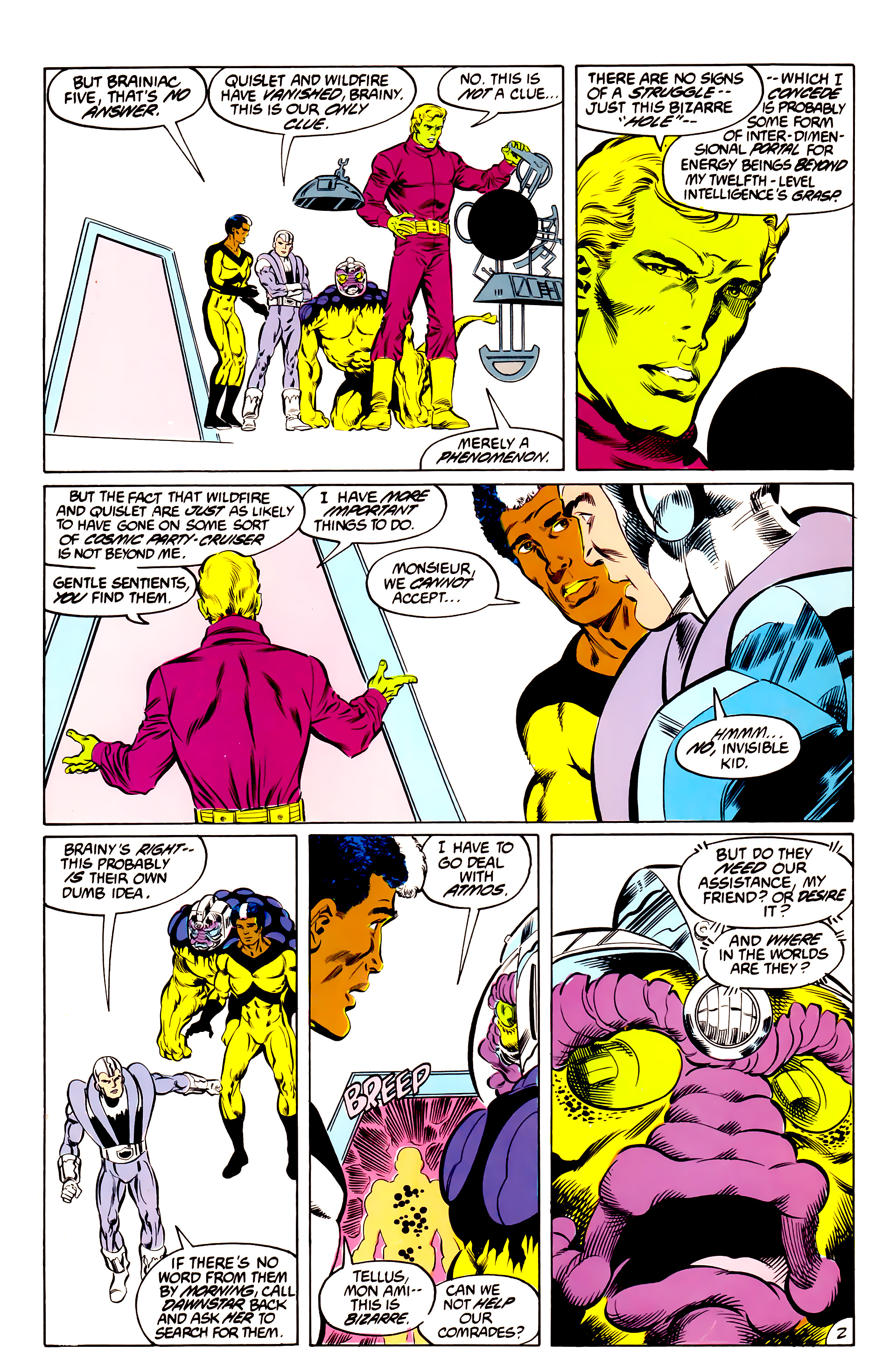 Legion of Super-Heroes (1984) 44 Page 2