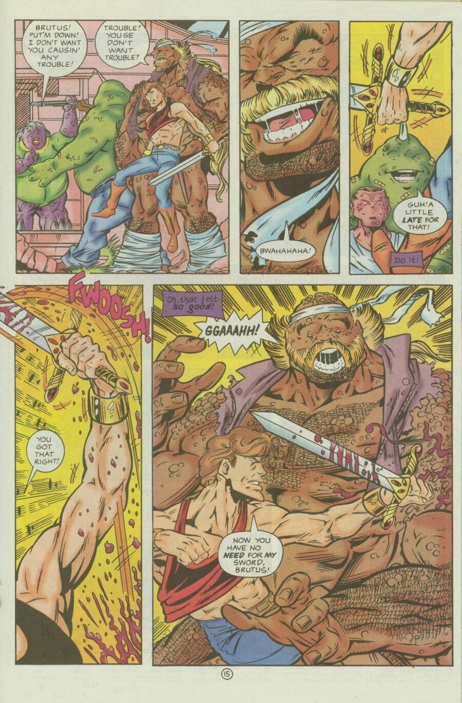 Read online Ex-Mutants comic -  Issue #9 - 19