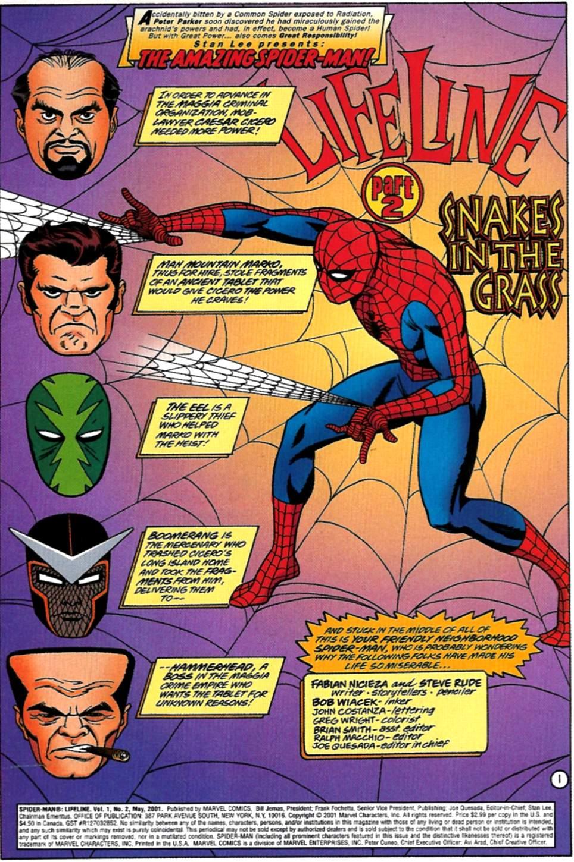 Read online Spider-Man: Lifeline comic -  Issue #2 - 2