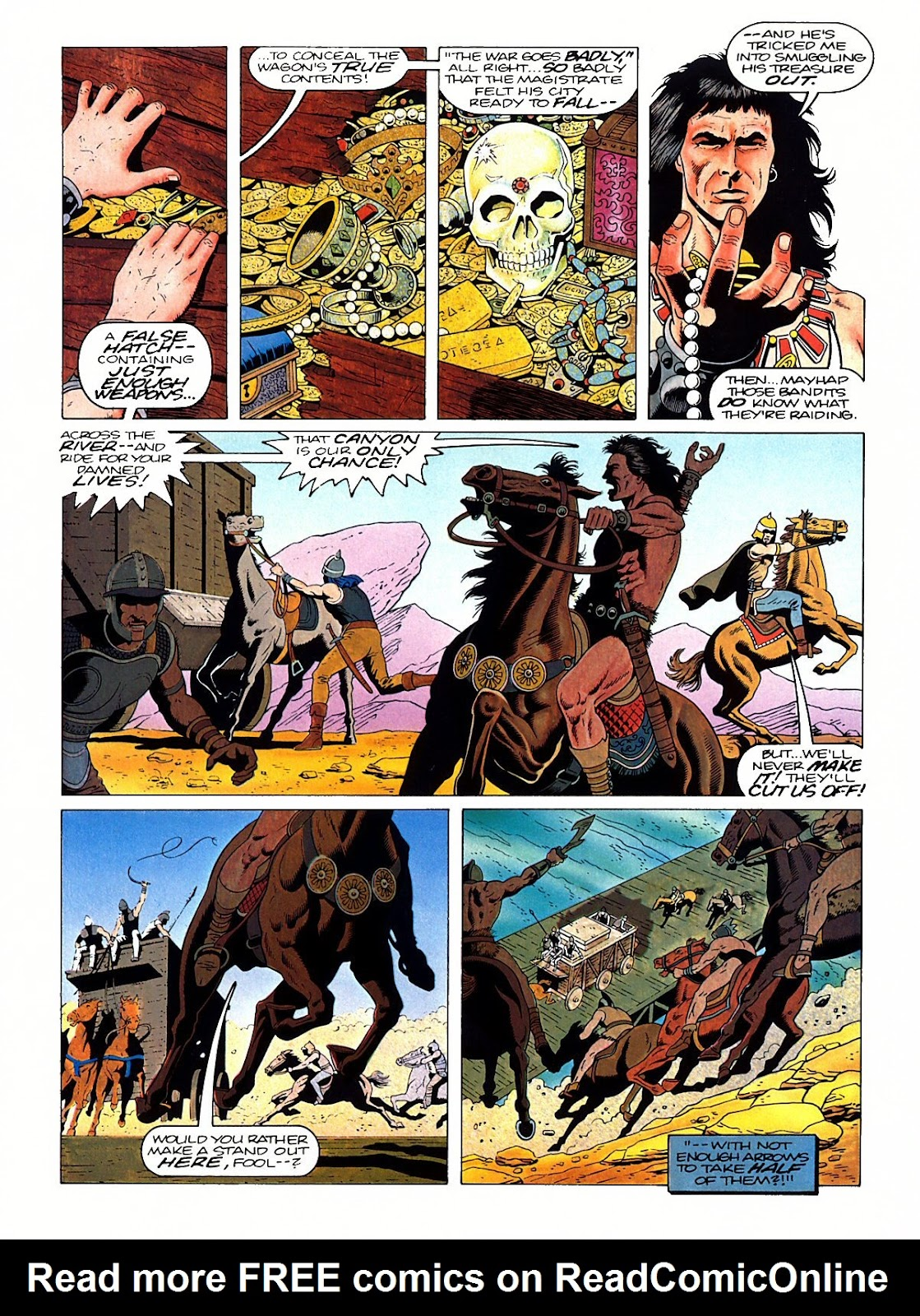 Read online Marvel Graphic Novel: Conan the Barbarian: The Skull of Set comic -  Issue # Full - 12