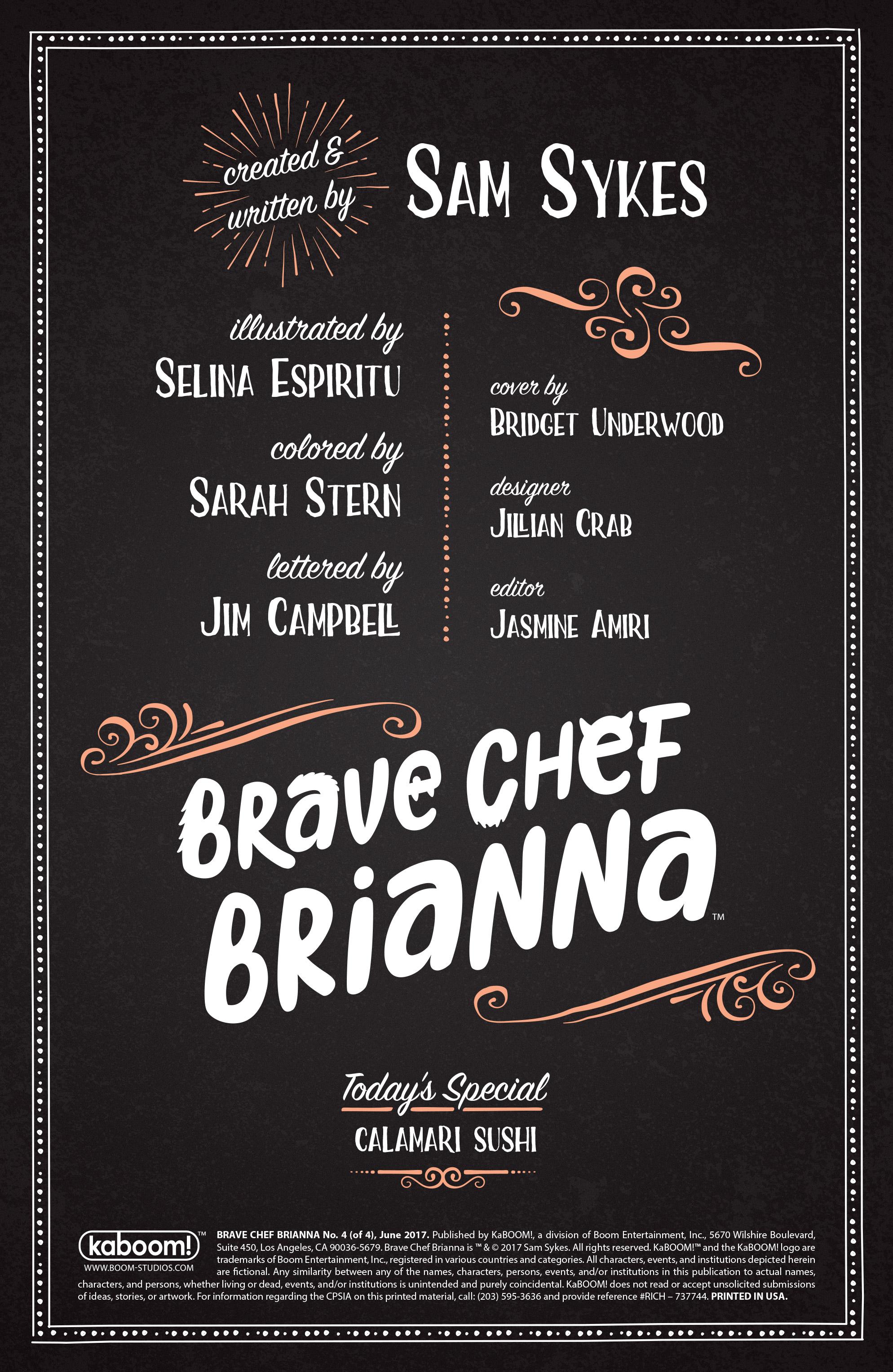 Read online Brave Chef Brianna comic -  Issue #4 - 2