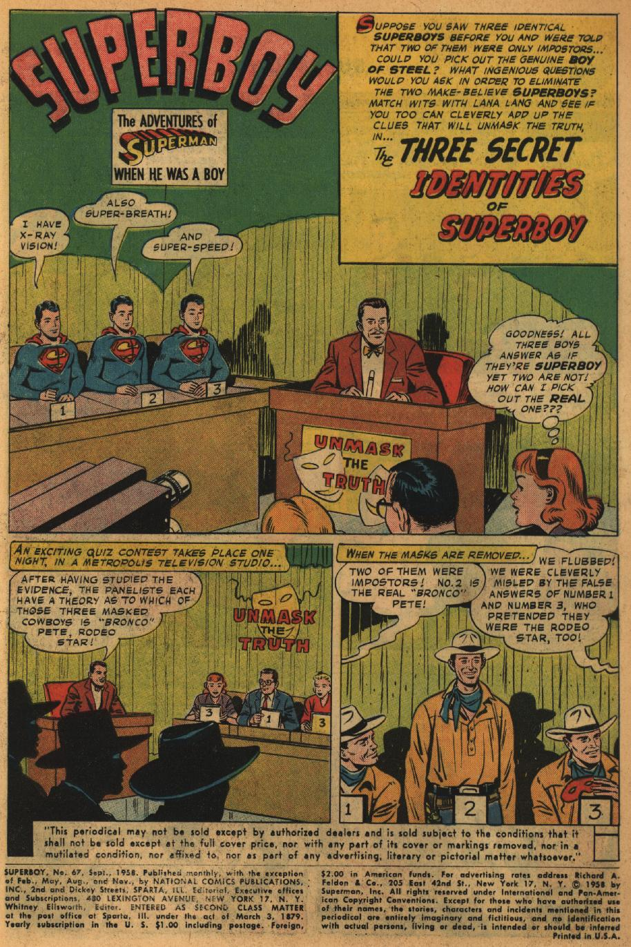 Superboy (1949) issue 67 - Page 2