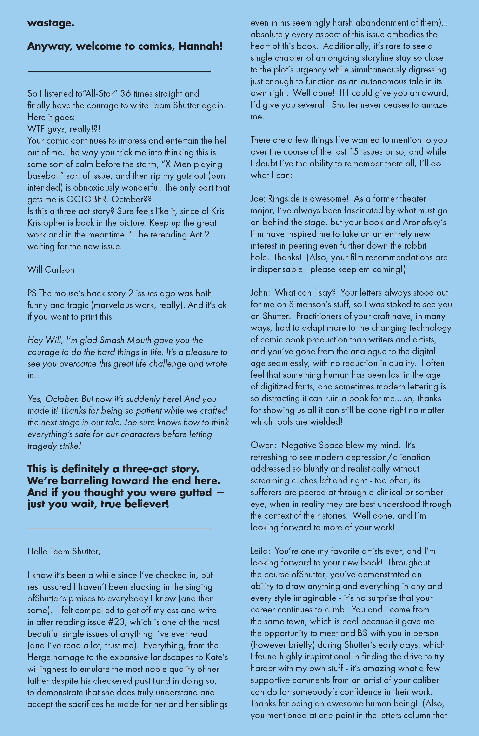 Read online Shutter comic -  Issue #23 - 26