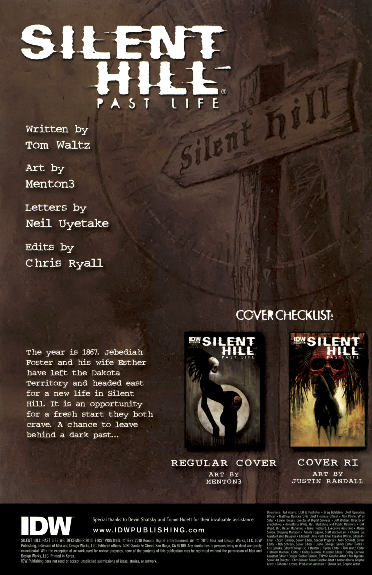 Read online Silent Hill: Past Life comic -  Issue #3 - 2