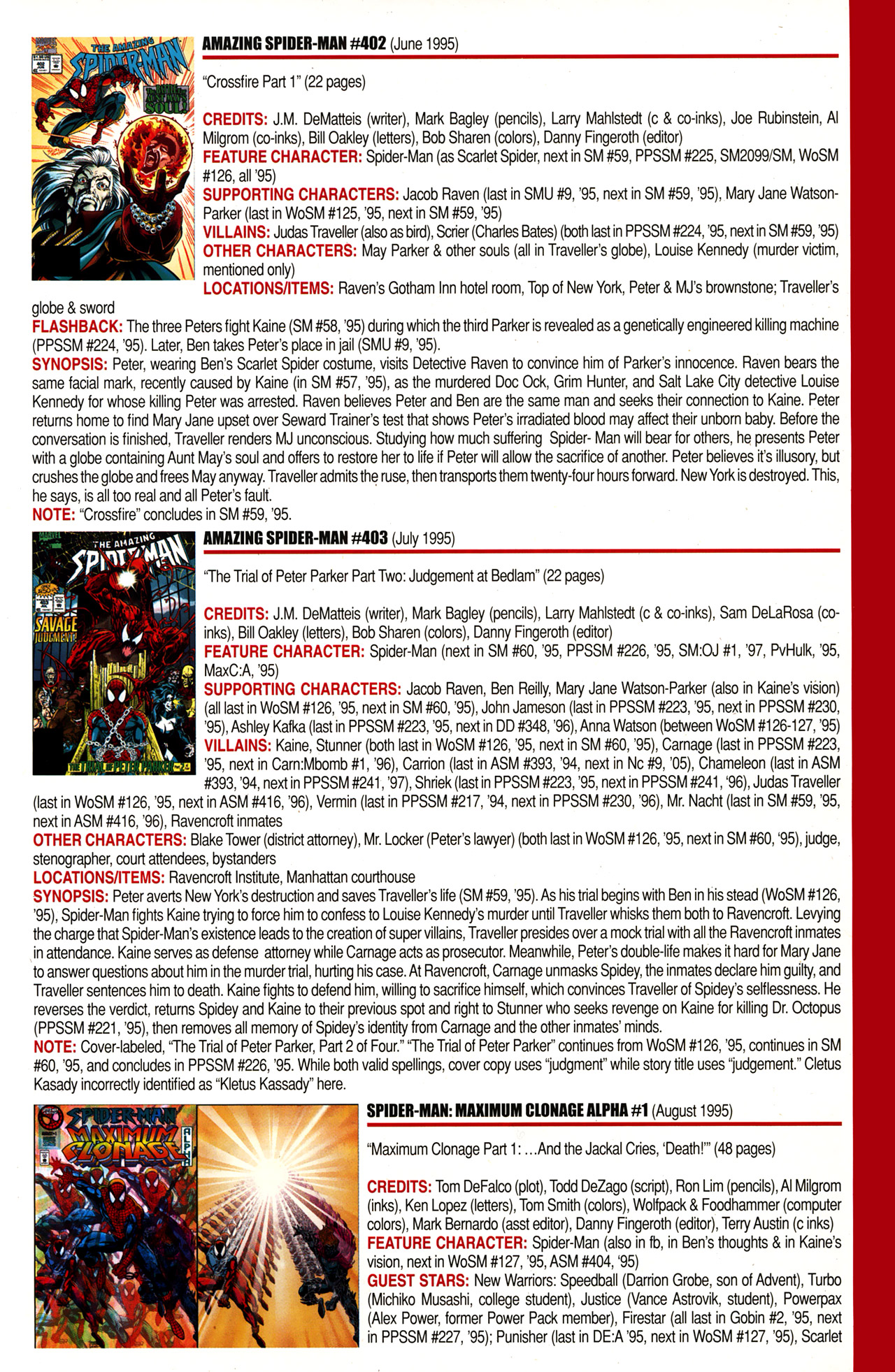 Read online Official Index to the Marvel Universe comic -  Issue #10 - 3