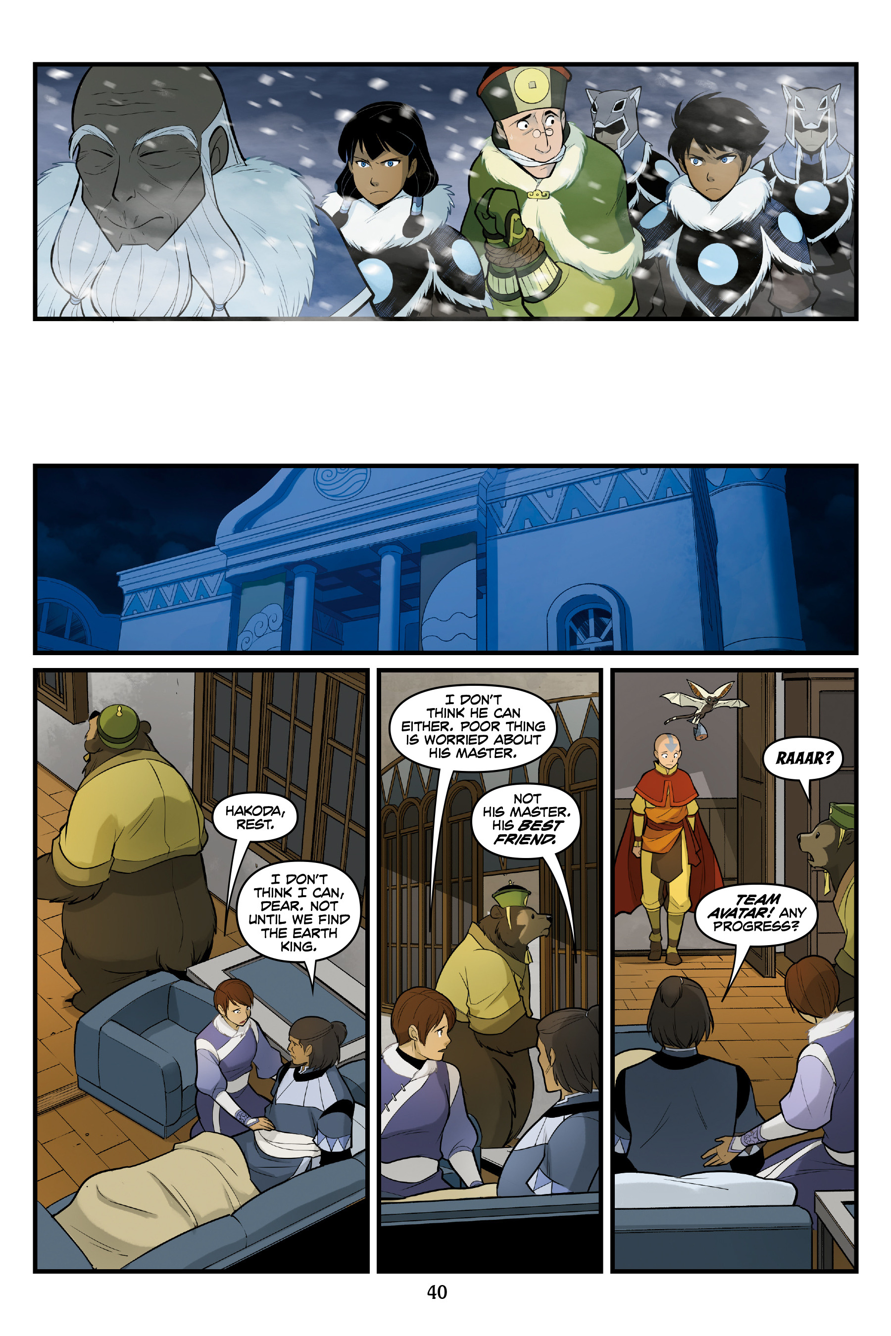 Read online Nickelodeon Avatar: The Last Airbender - North and South comic -  Issue #3 - 40