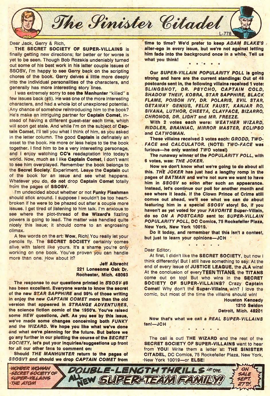 Read online Secret Society of Super-Villains comic -  Issue #11 - 19
