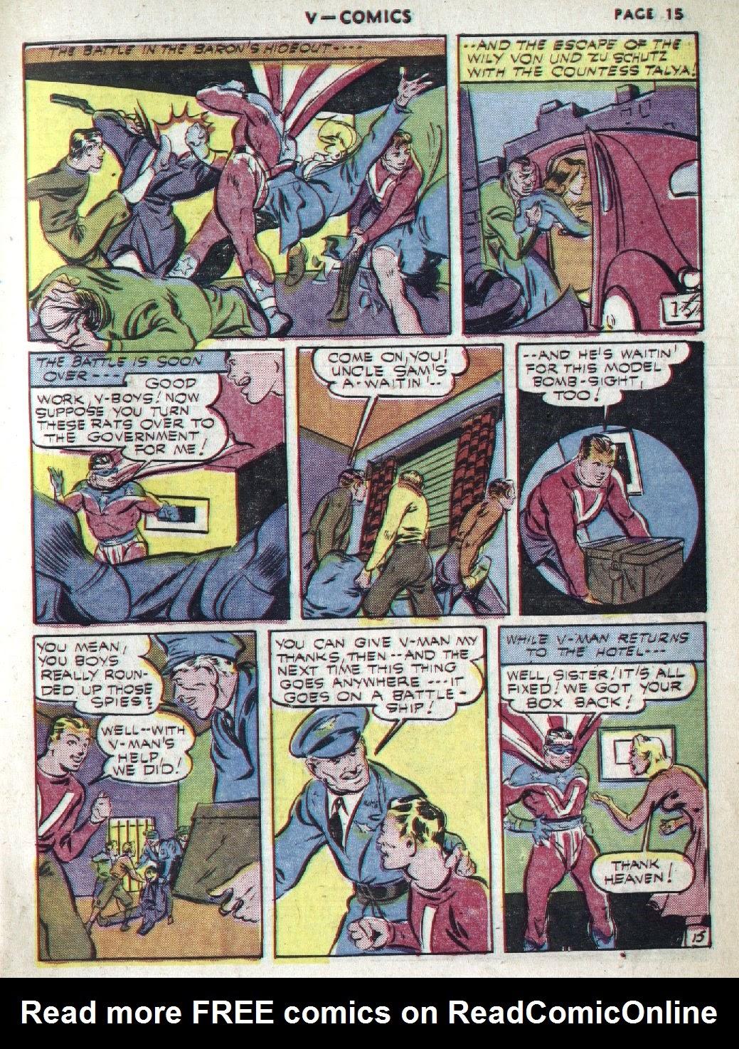 Read online V...- Comics comic -  Issue #1 - 17