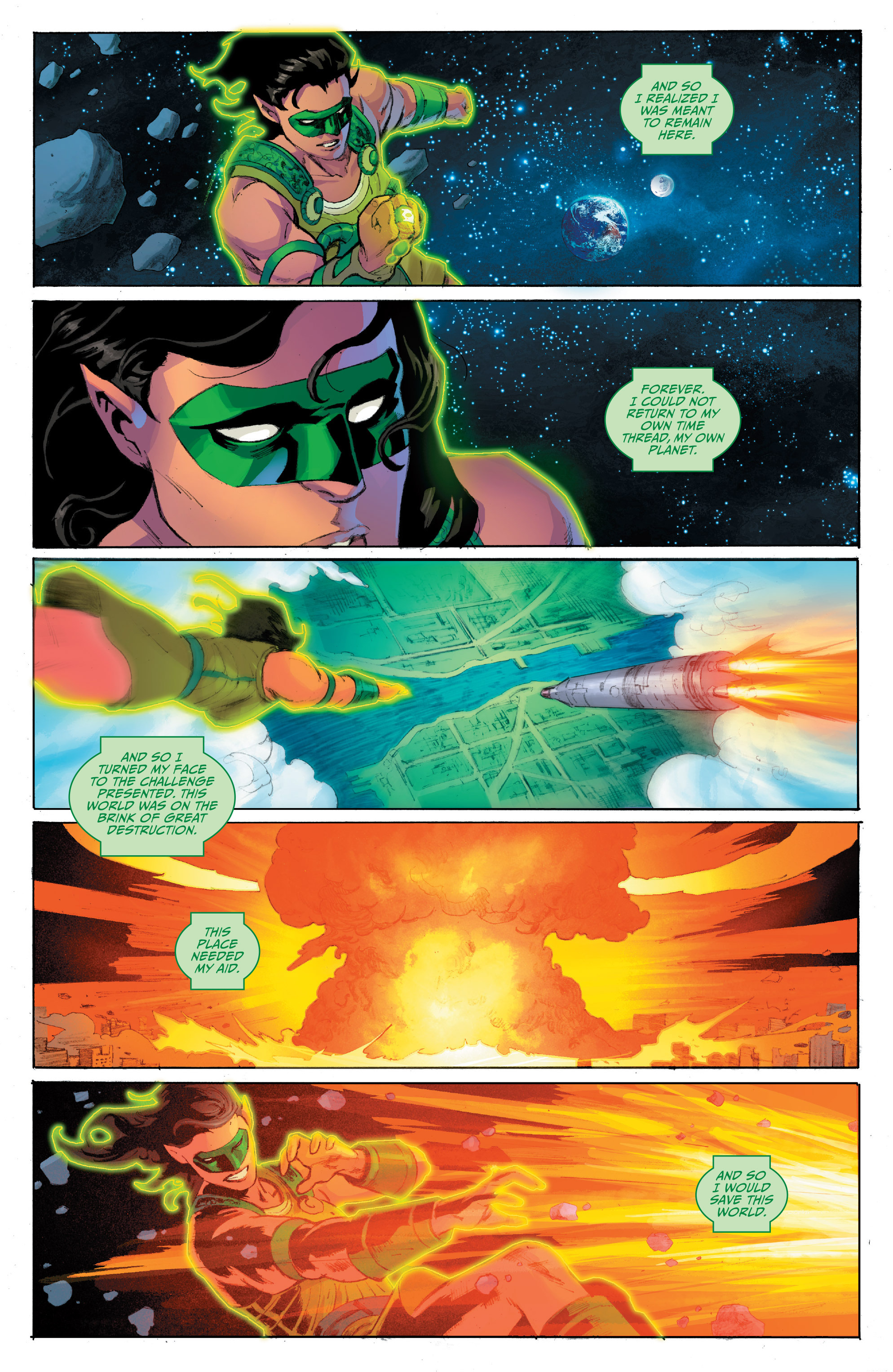Read online Planet of the Apes/Green Lantern comic -  Issue #4 - 5