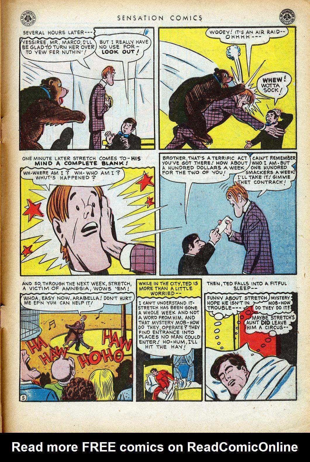 Read online Sensation (Mystery) Comics comic -  Issue #40 - 47