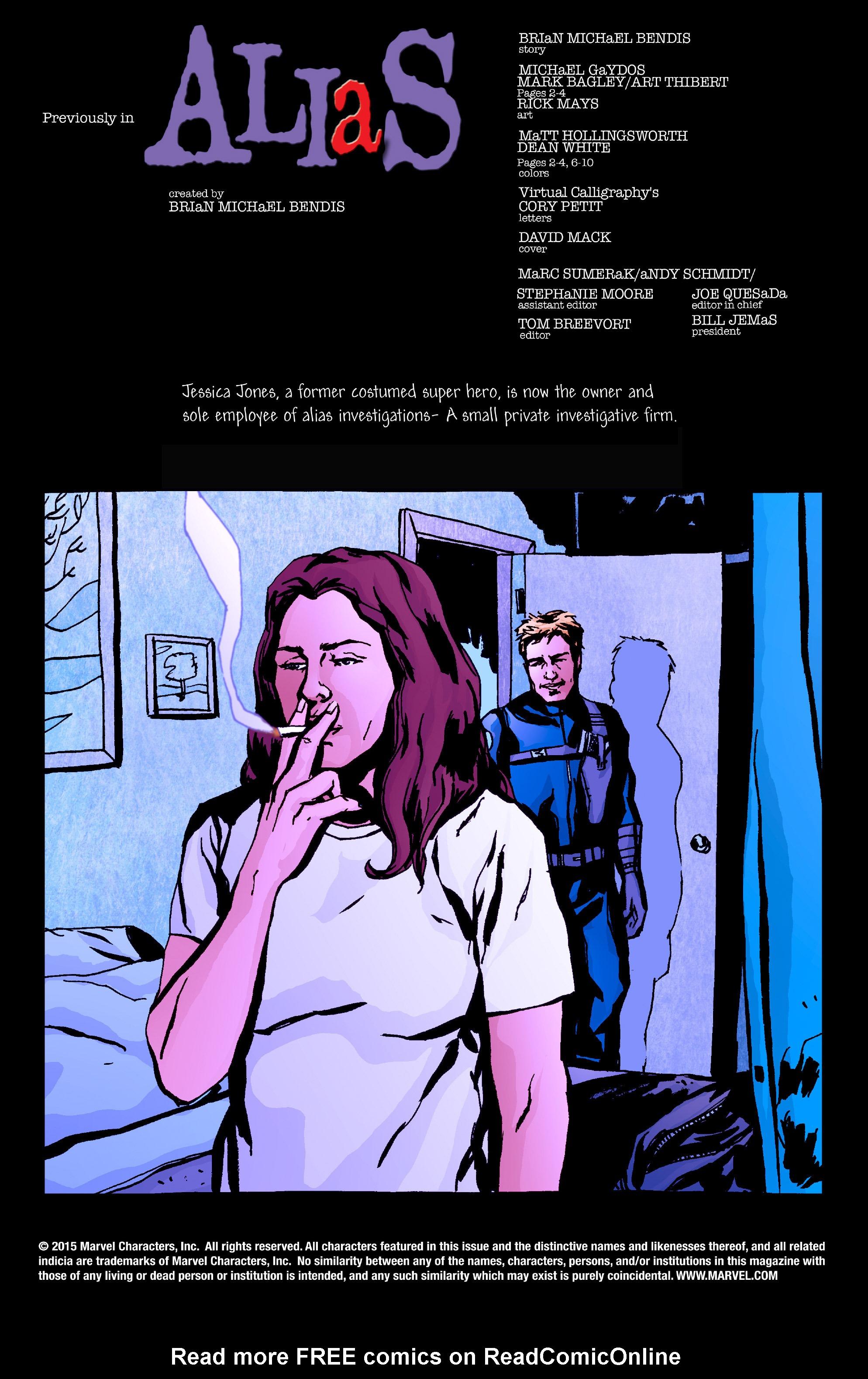 Read online Alias comic -  Issue #26 - 2