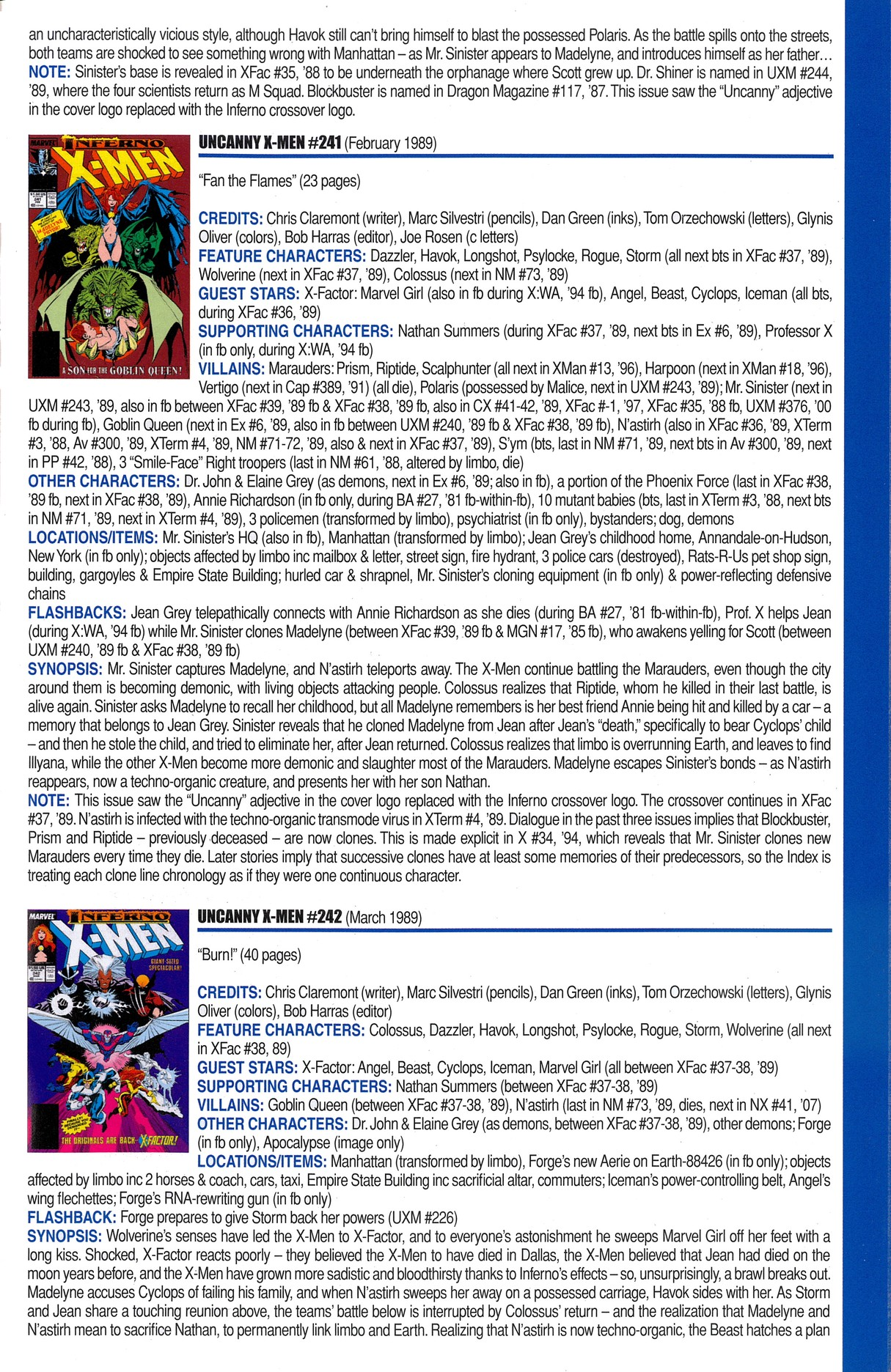 Read online Official Index to the Marvel Universe comic -  Issue #6 - 51