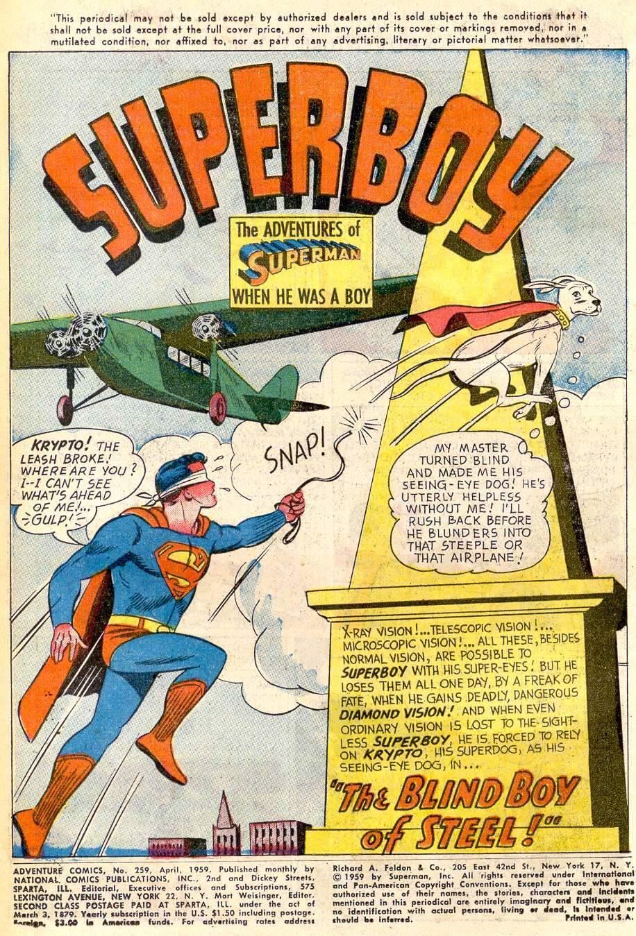 Read online Adventure Comics (1938) comic -  Issue #259 - 3