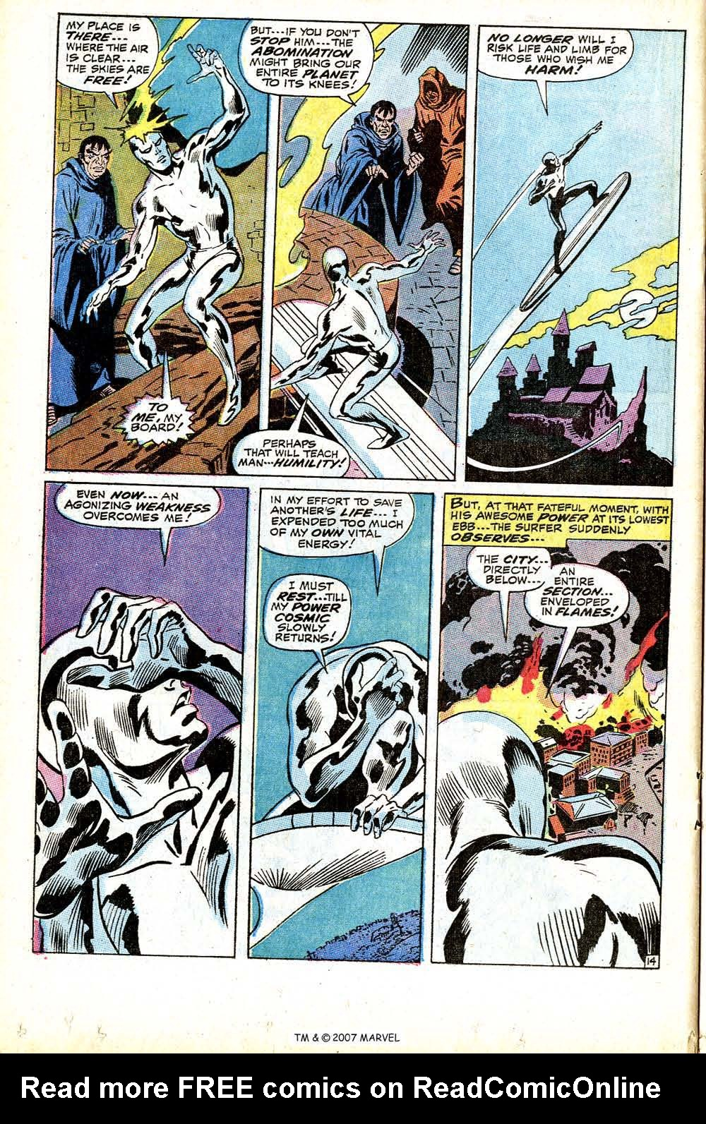 Read online Silver Surfer (1968) comic -  Issue #12 - 20