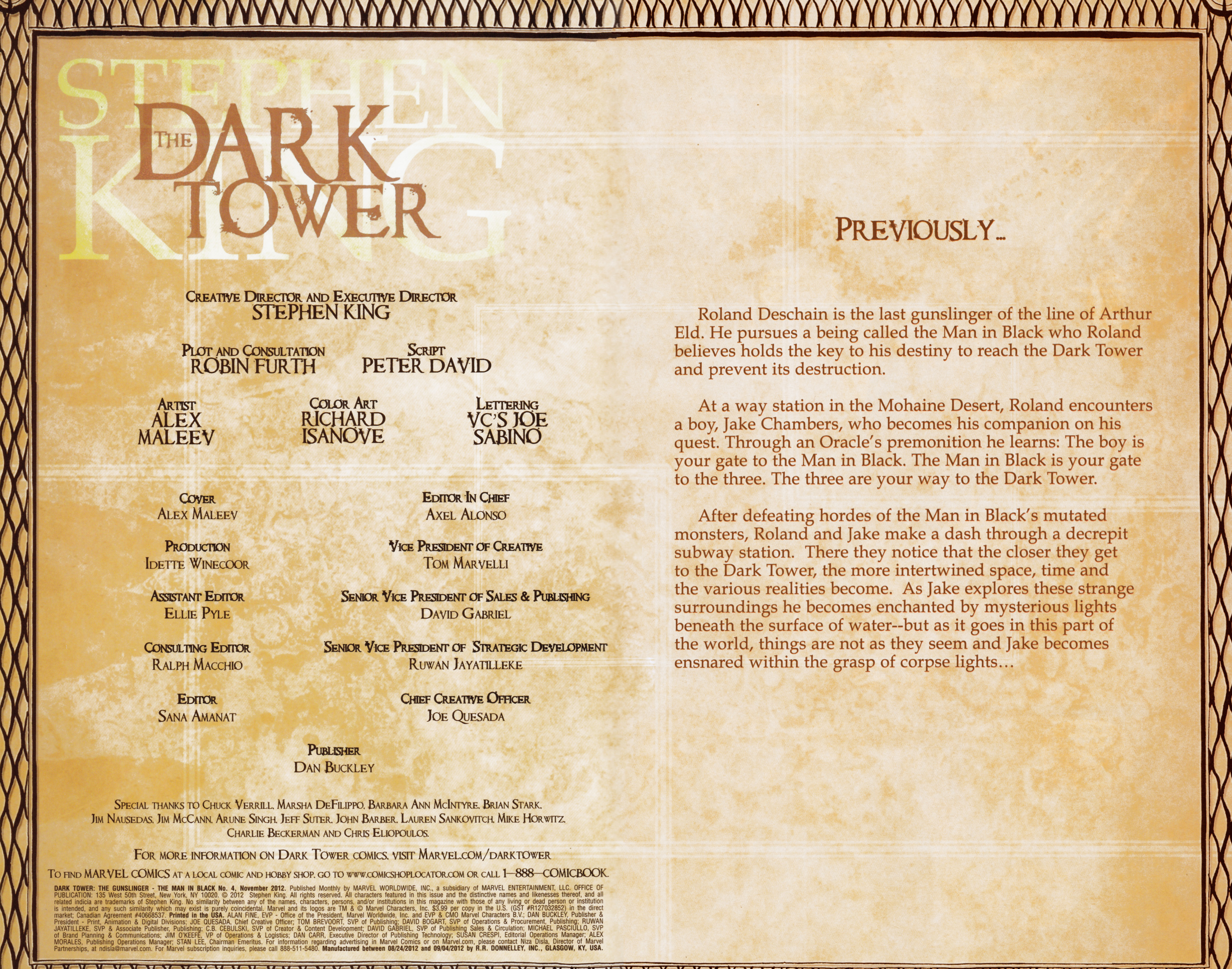 Read online Dark Tower: The Gunslinger - The Man in Black comic -  Issue #4 - 2